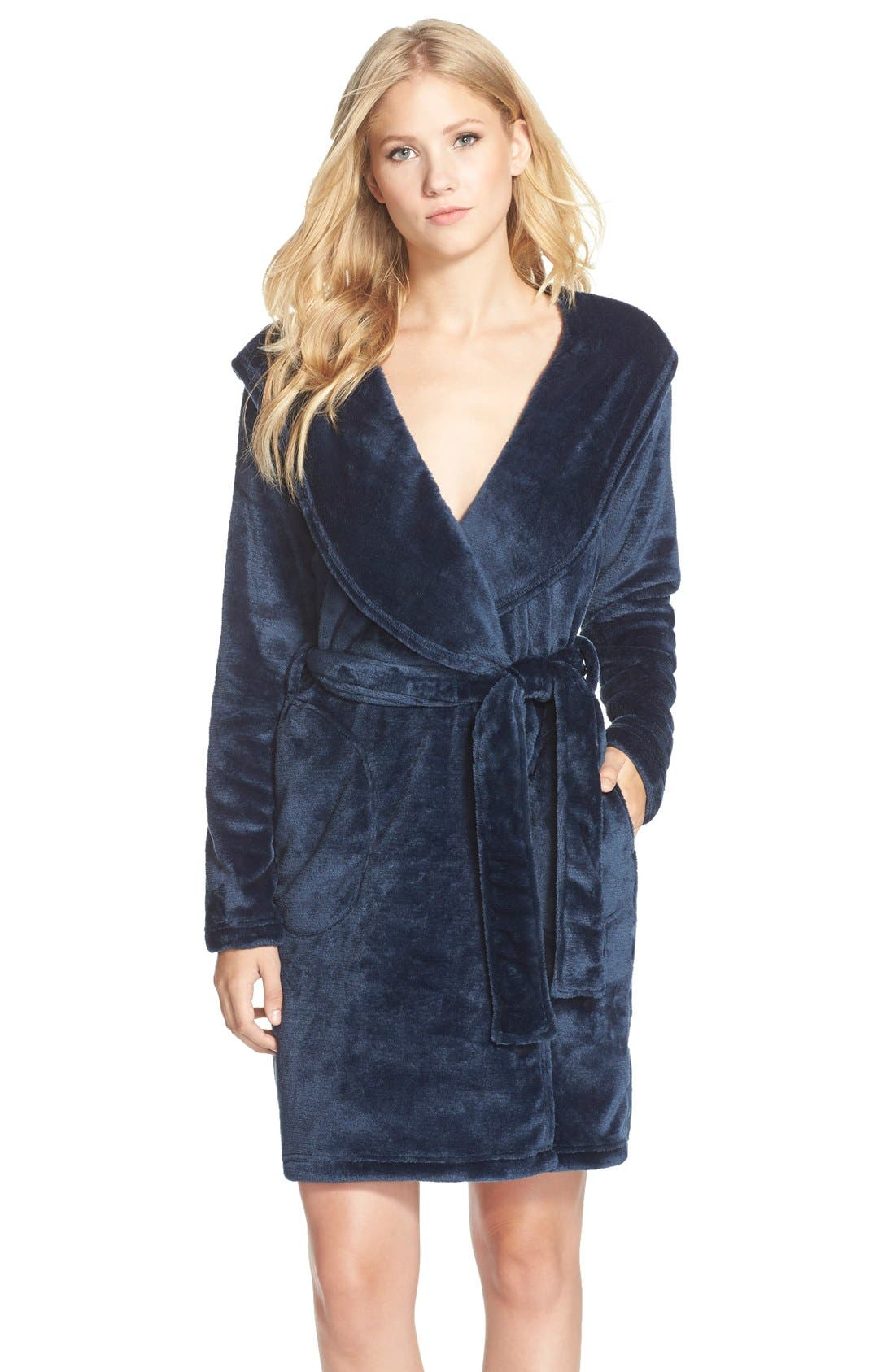 UGG<SUP>®</SUP>,                             Miranda Robe,                             Main thumbnail 1, color,                             INDIGO