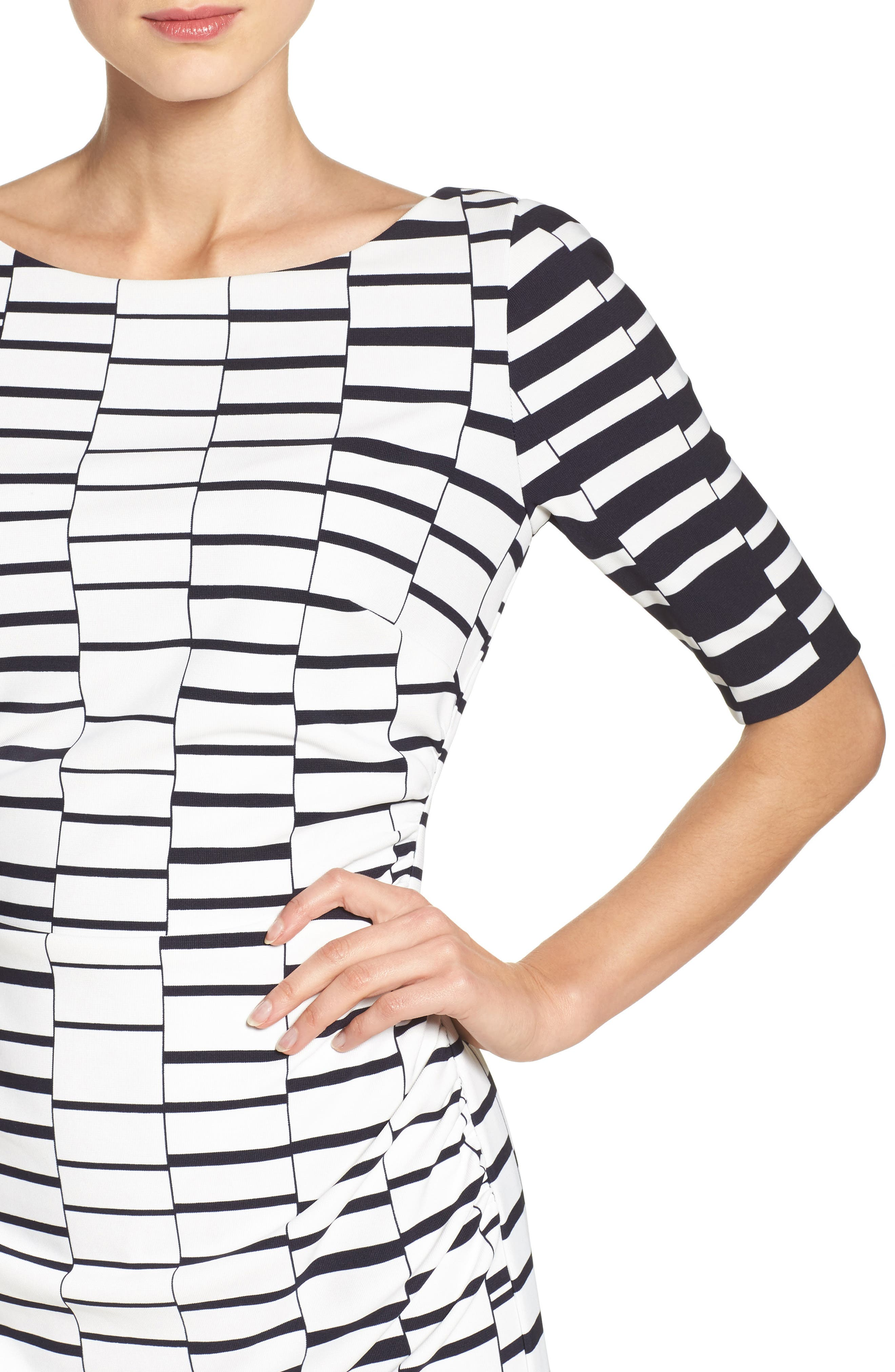 Ruched Body-Con Dress,                             Alternate thumbnail 4, color,                             900