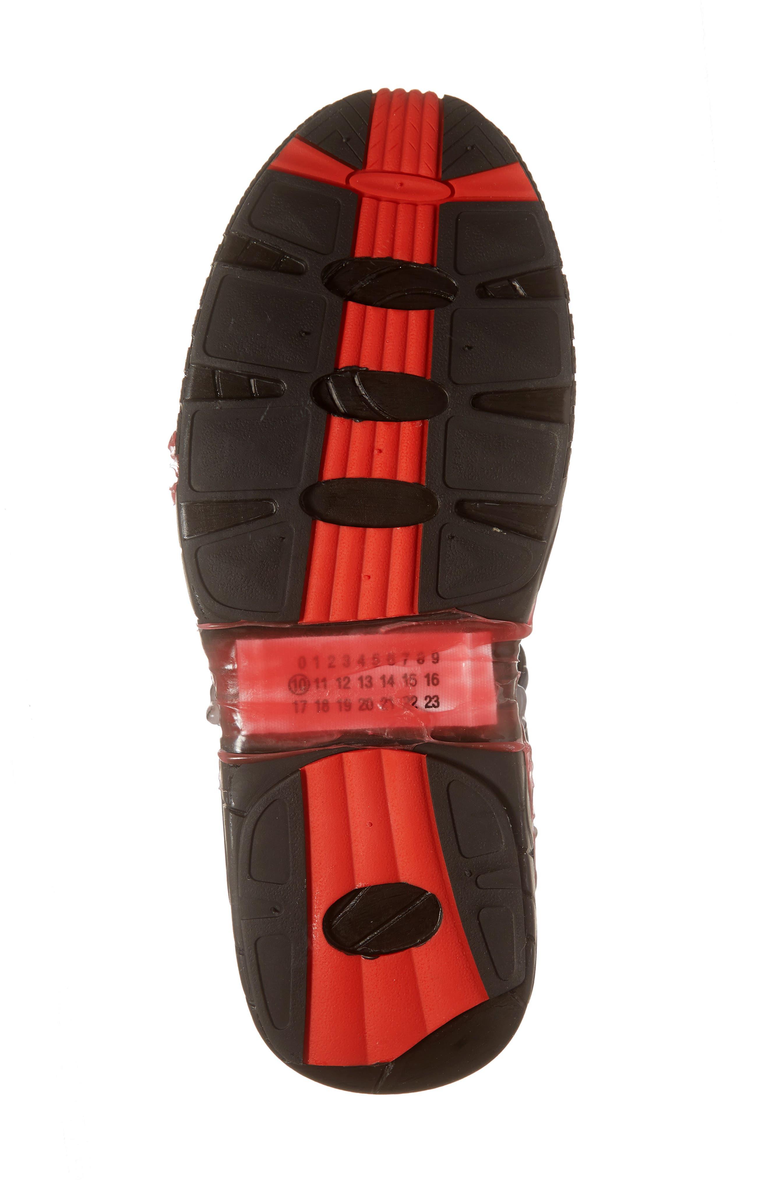 MM6 MAISON MARGIELA,                             Maison Margiela Fusion Sneaker,                             Alternate thumbnail 6, color,                             BLACK/ GOLD/ RED