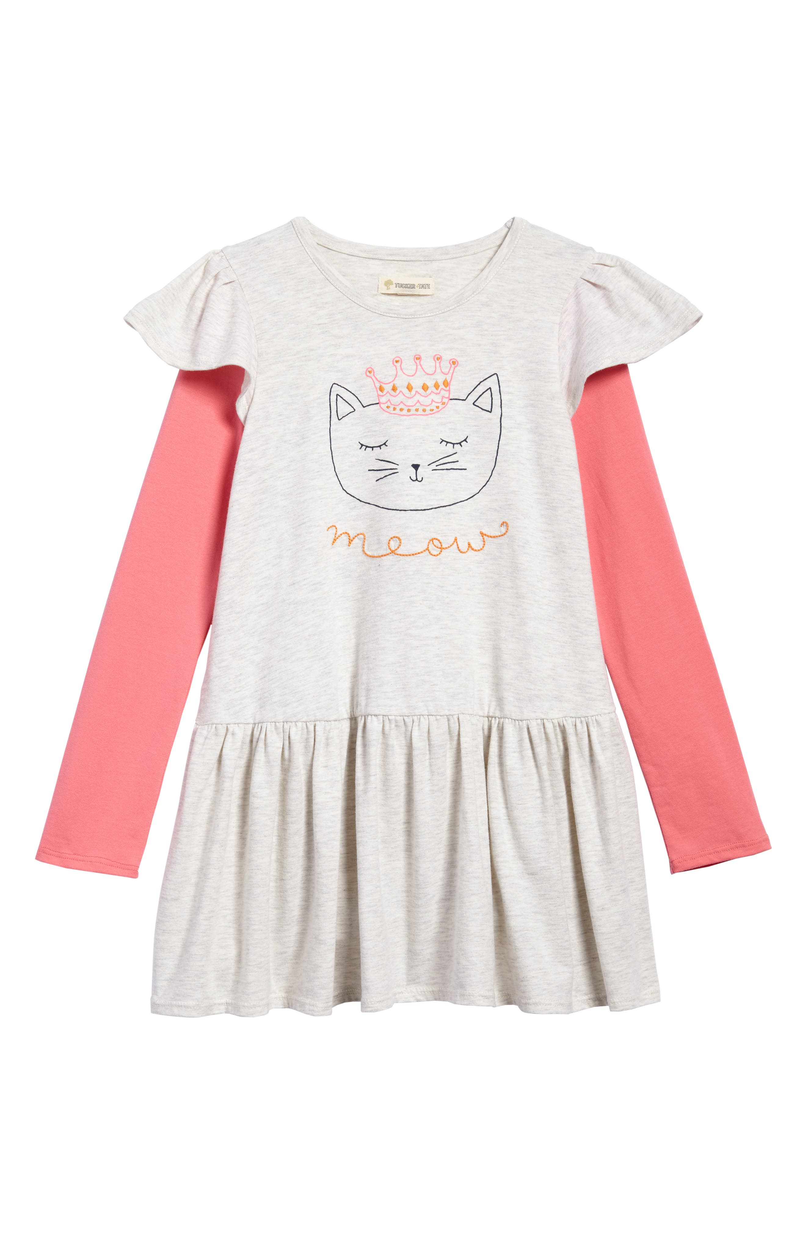 Flutter Sleeve Knit Dress,                             Main thumbnail 2, color,