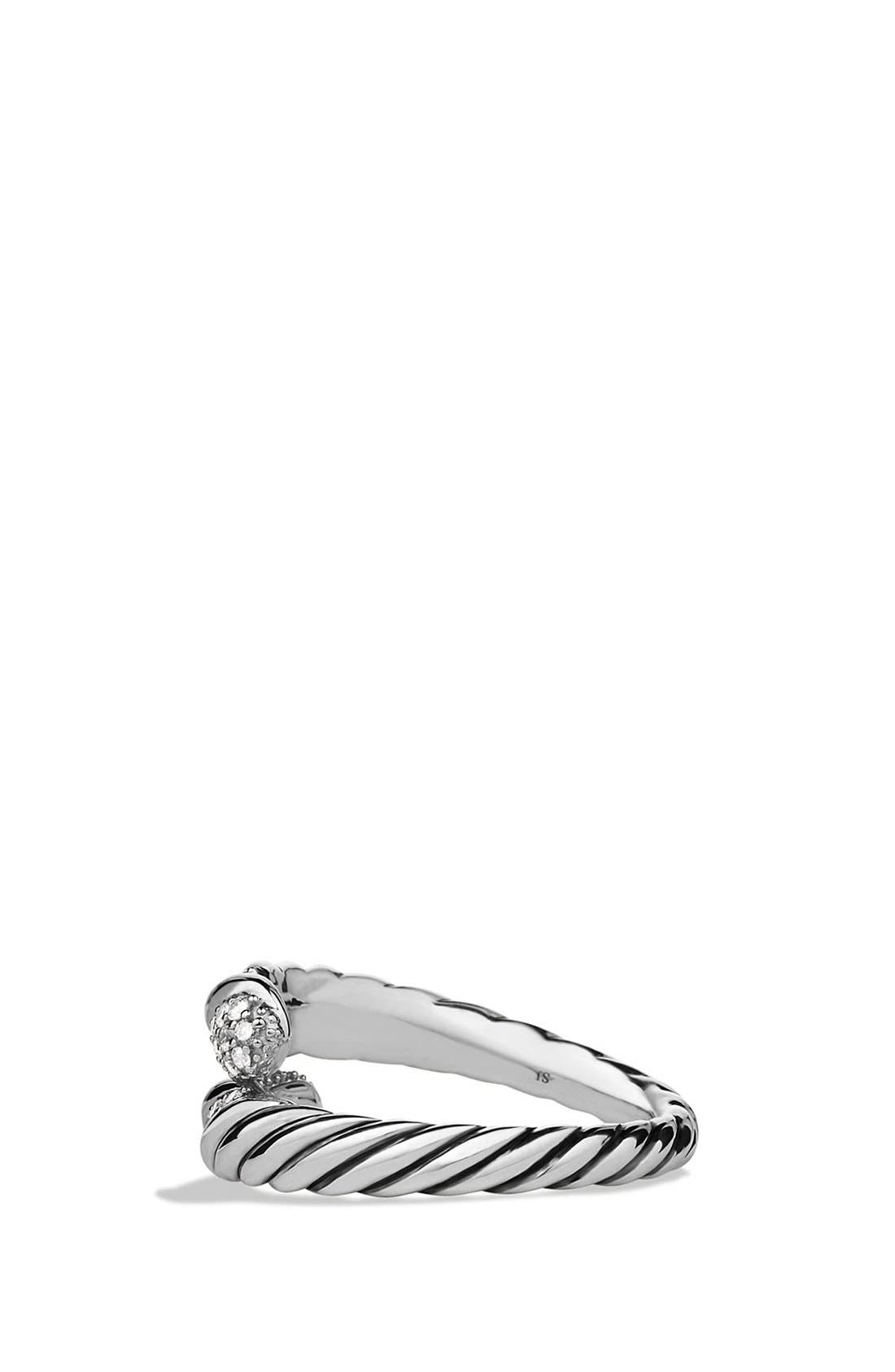 'Willow' Open Single Row Ring with Diamonds,                             Alternate thumbnail 4, color,                             040