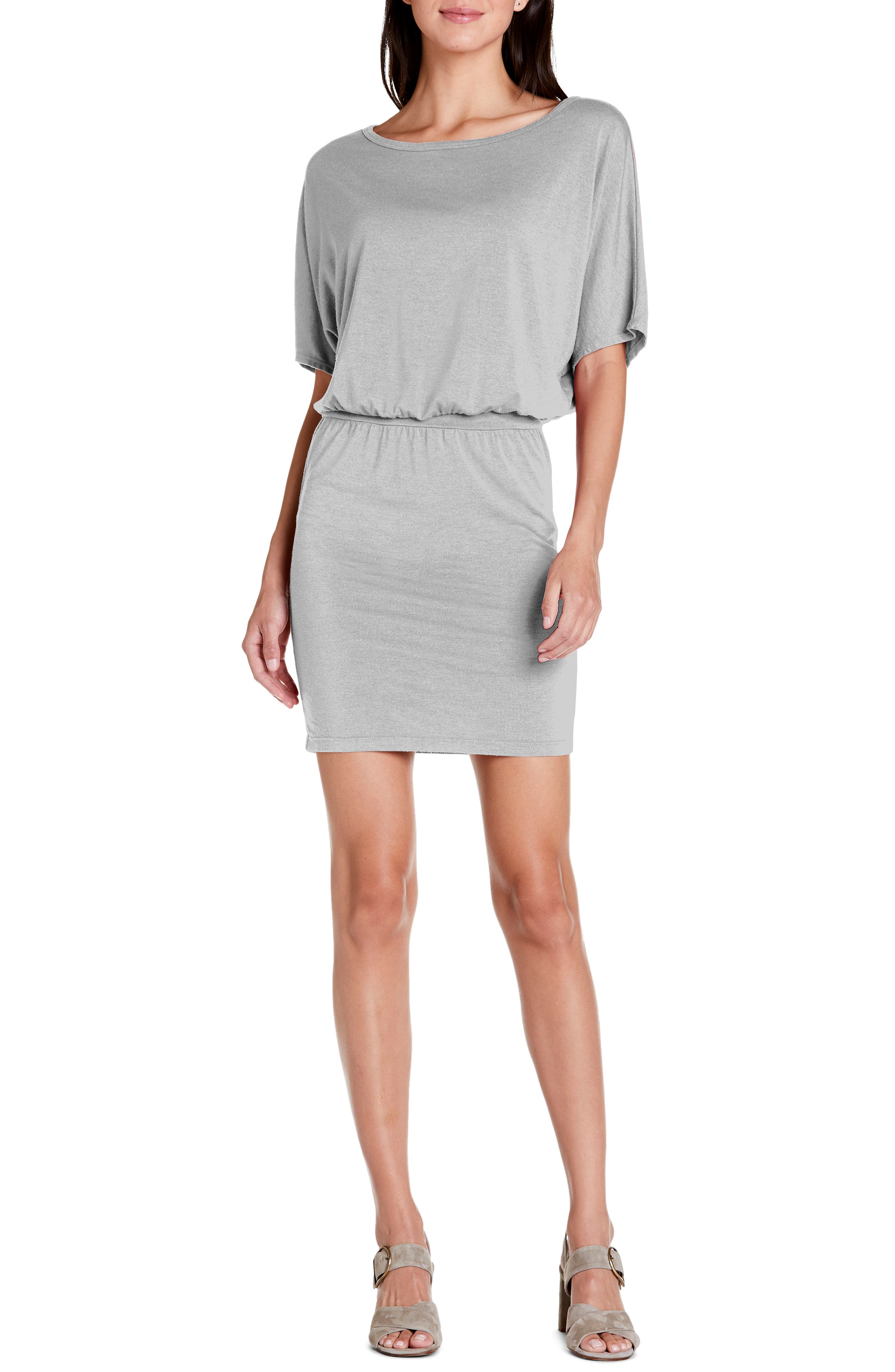 Michael Stars Erynn Elbow Sleeve Knit Dress, Grey