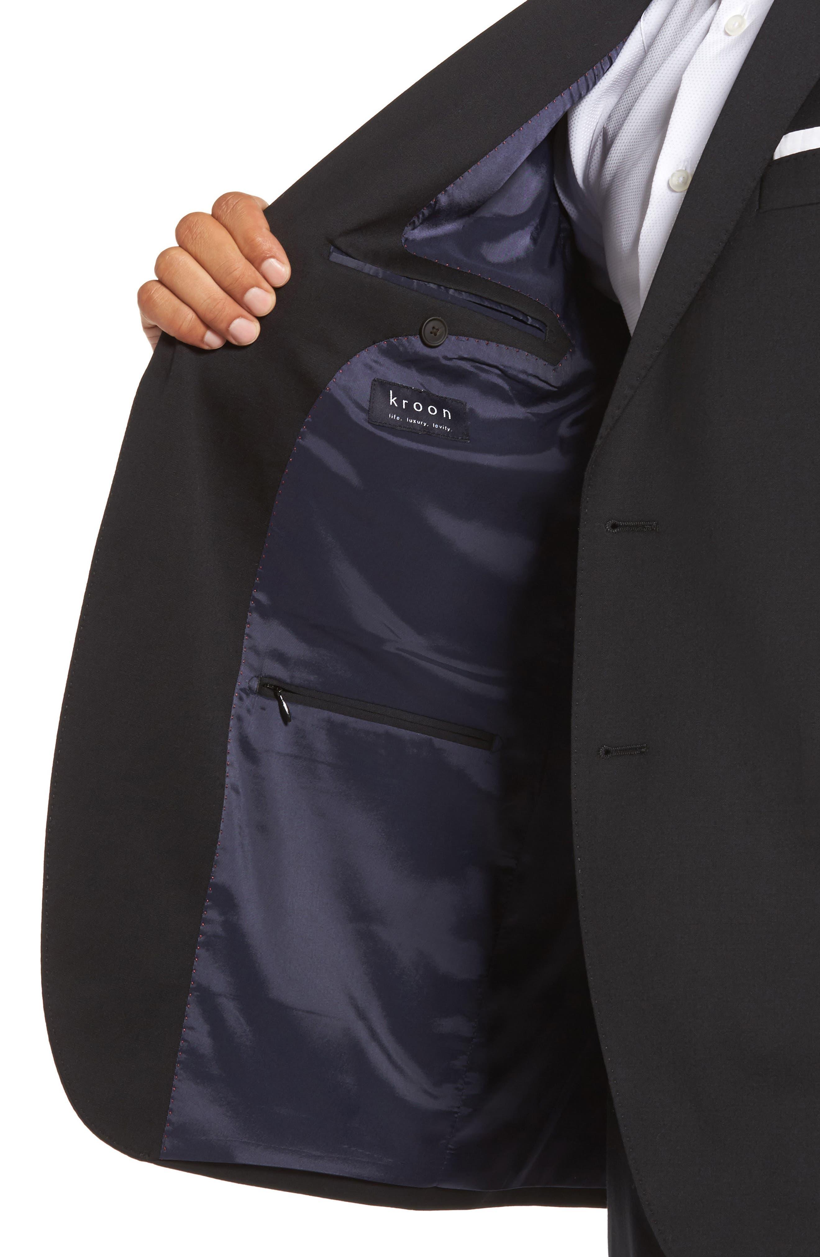 Keidis Aim Classic Fit Stretch Wool Suit,                             Alternate thumbnail 4, color,                             BLACK