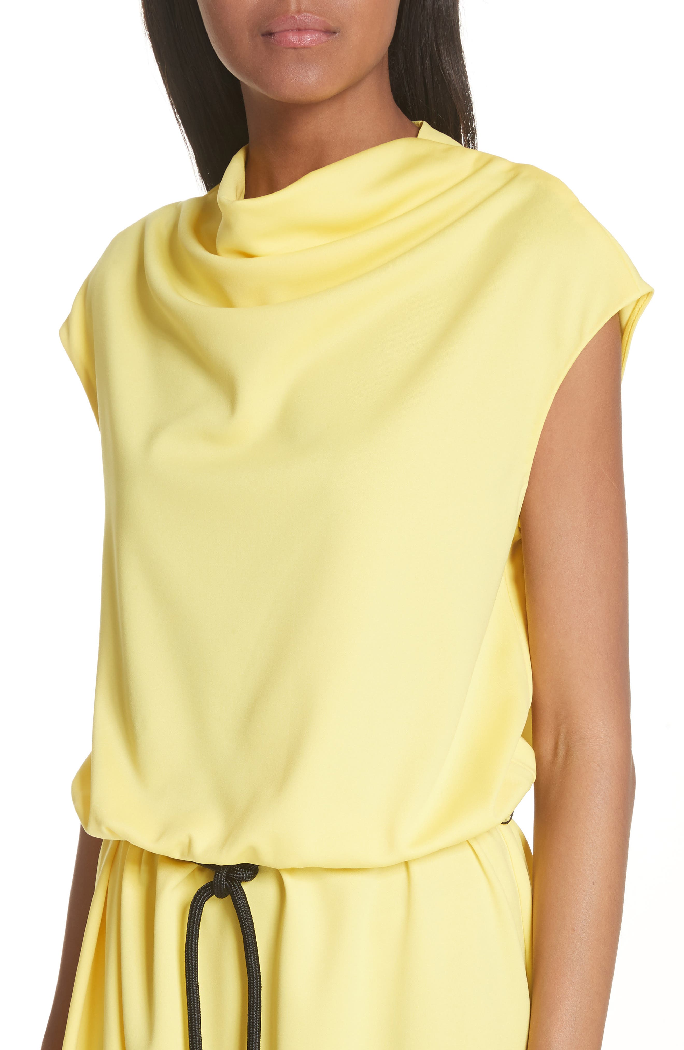 Cowl Neck Belted Dress,                             Alternate thumbnail 4, color,                             700