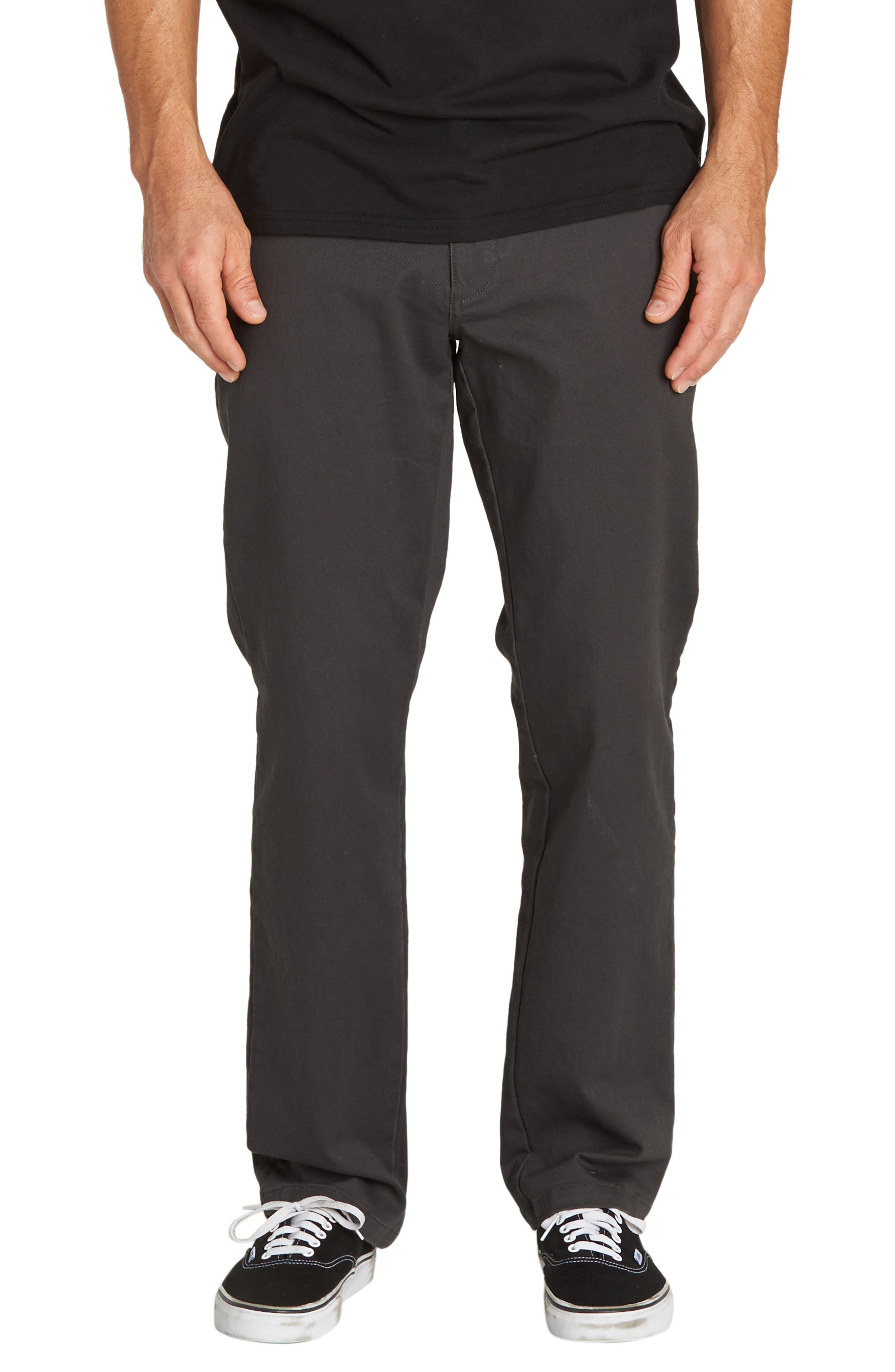 Carter ADiv Slim Straight Leg Pants,                         Main,                         color, RAVEN