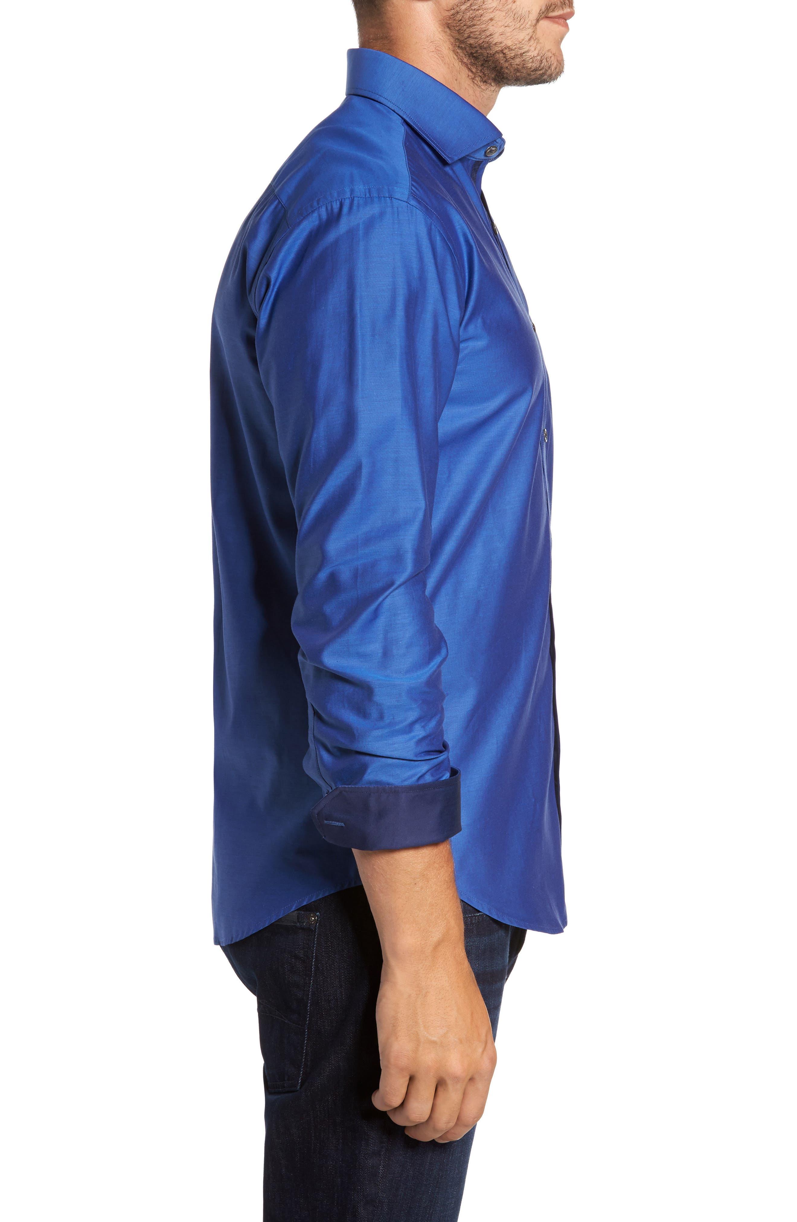 Trim Fit Solid Sport Shirt,                             Alternate thumbnail 12, color,
