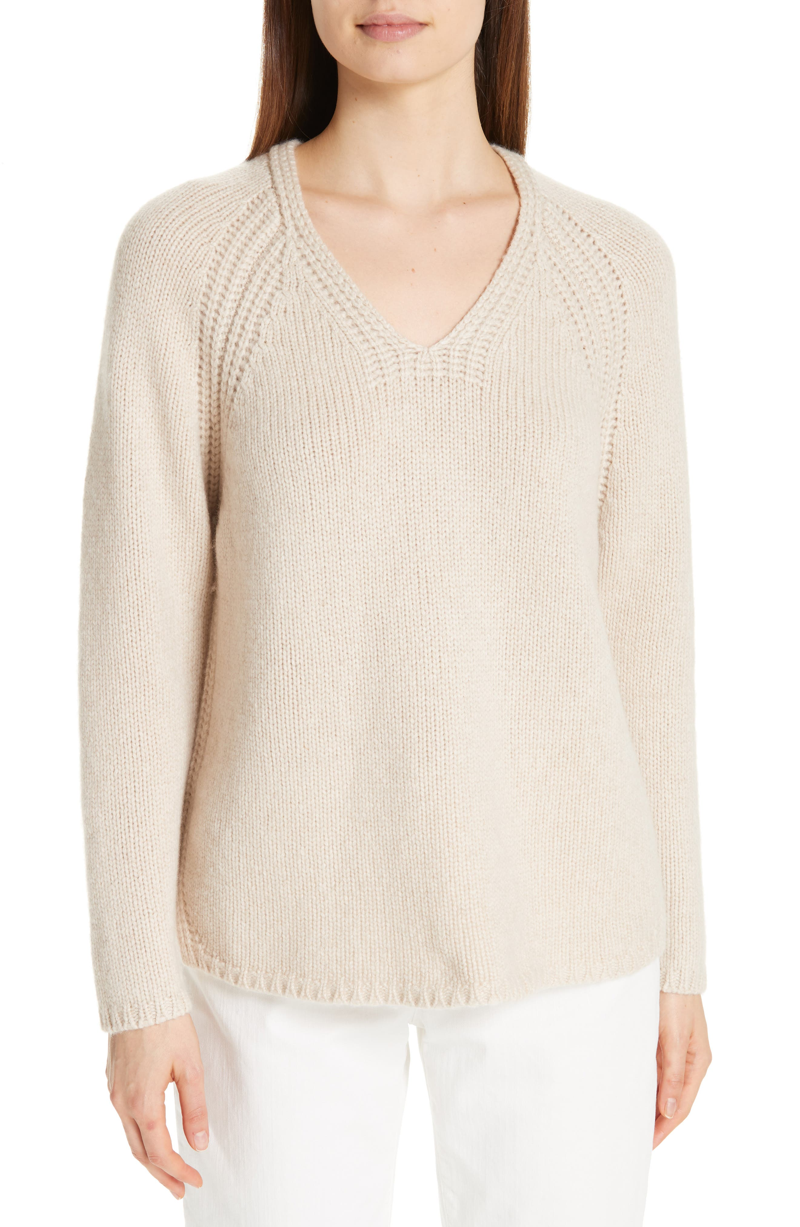 V-Neck Cashmere Sweater, Main, color, 264
