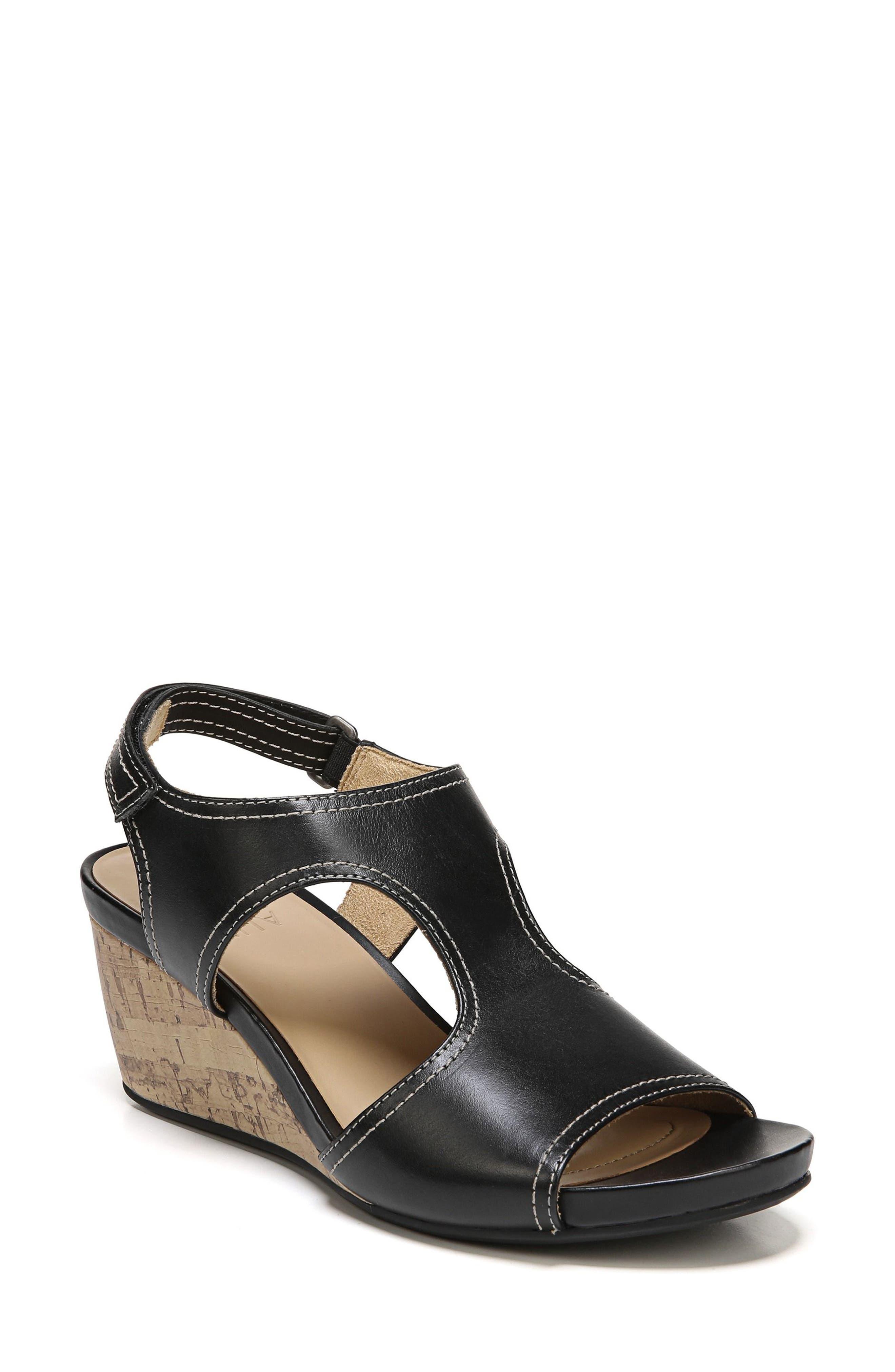 NATURALIZER Cinda Wedge Sandal, Main, color, 001