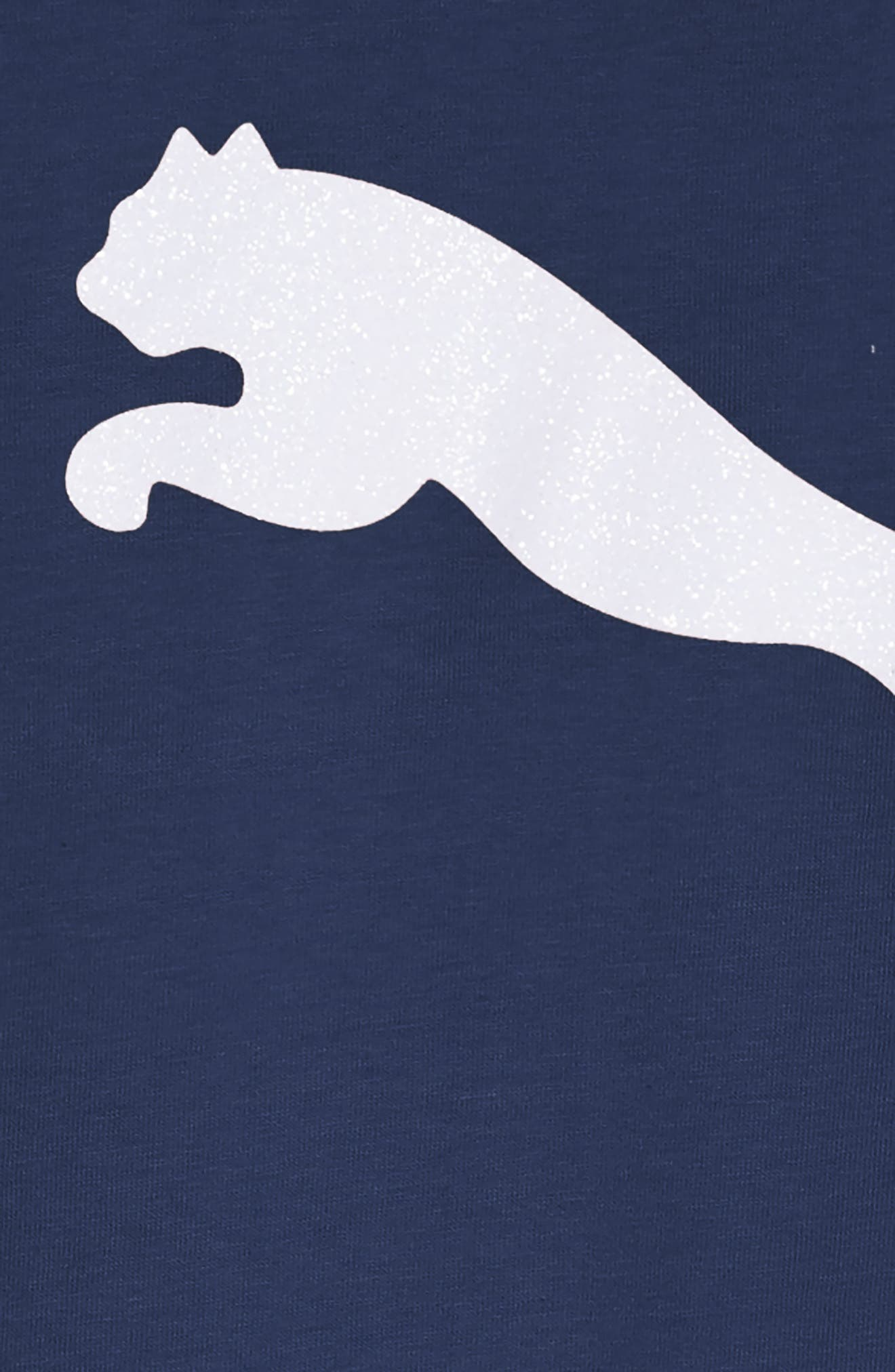 PUMA,                             Logo T-Shirt Dress,                             Alternate thumbnail 3, color,                             404