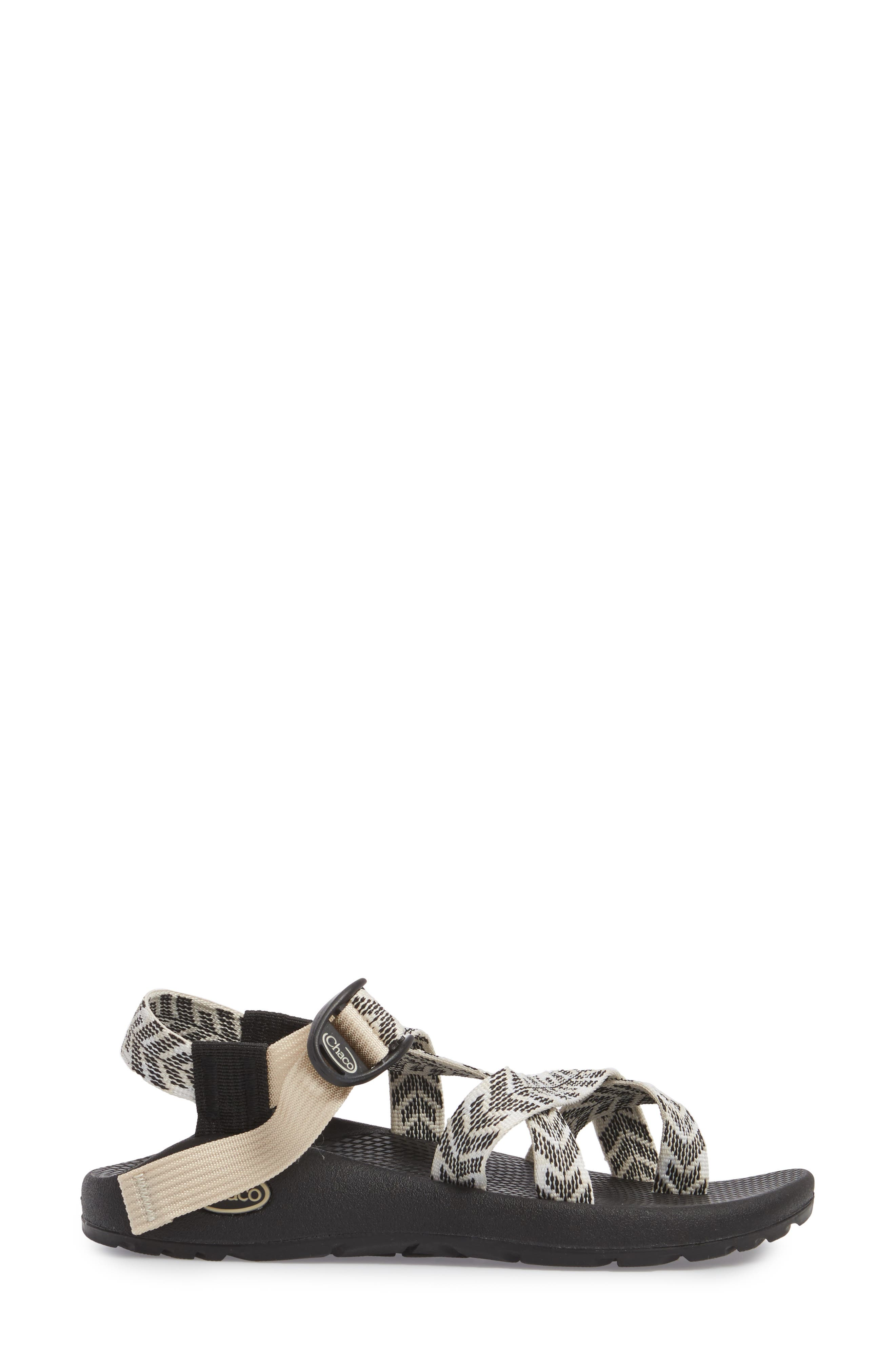 Z/2 Classic Sport Sandal,                             Alternate thumbnail 3, color,                             TRINE BLACK / WHITE