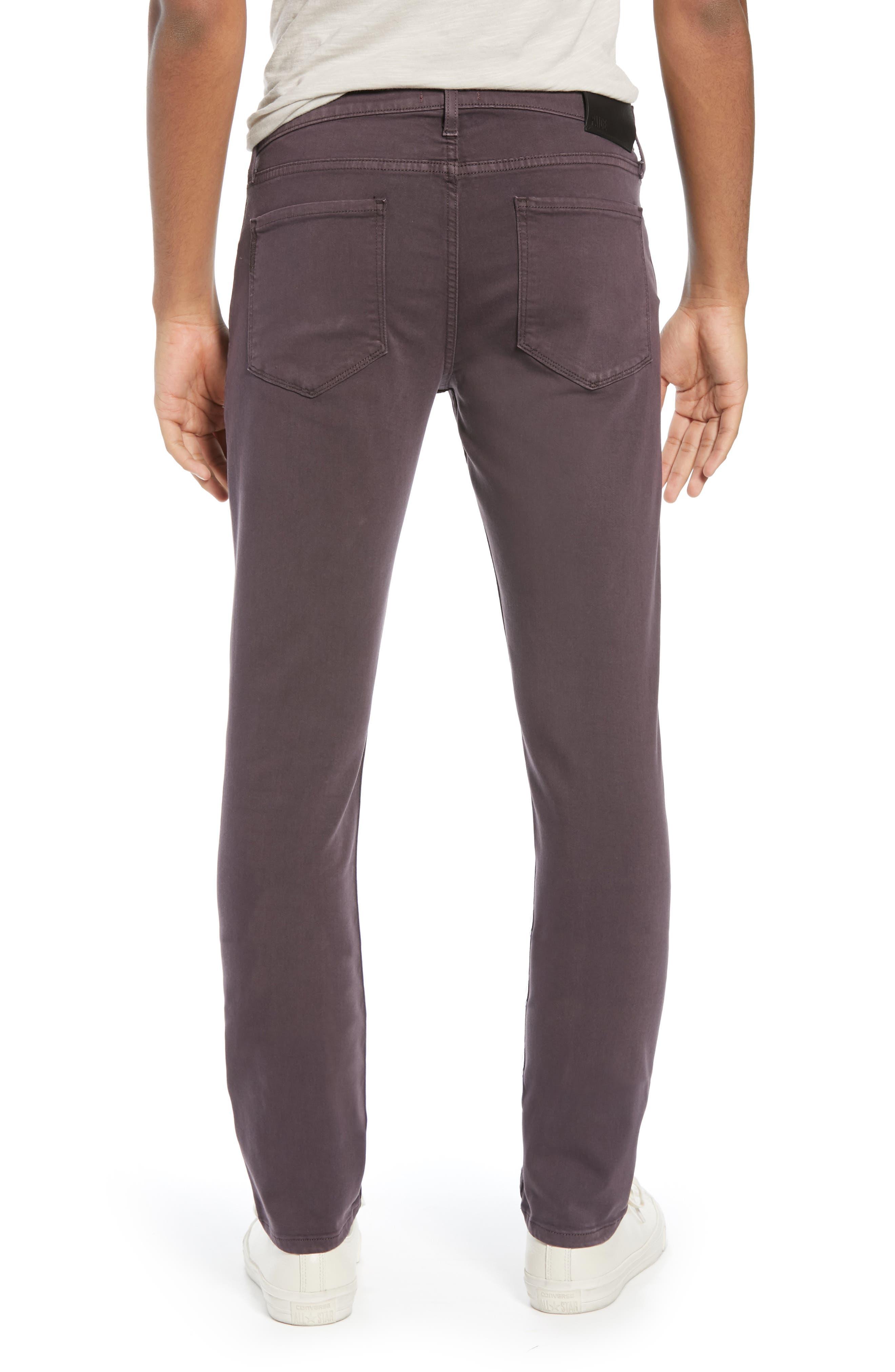 Transcend - Lennox Slim Fit Jeans,                             Alternate thumbnail 2, color,                             VINTAGE PLUM WINE