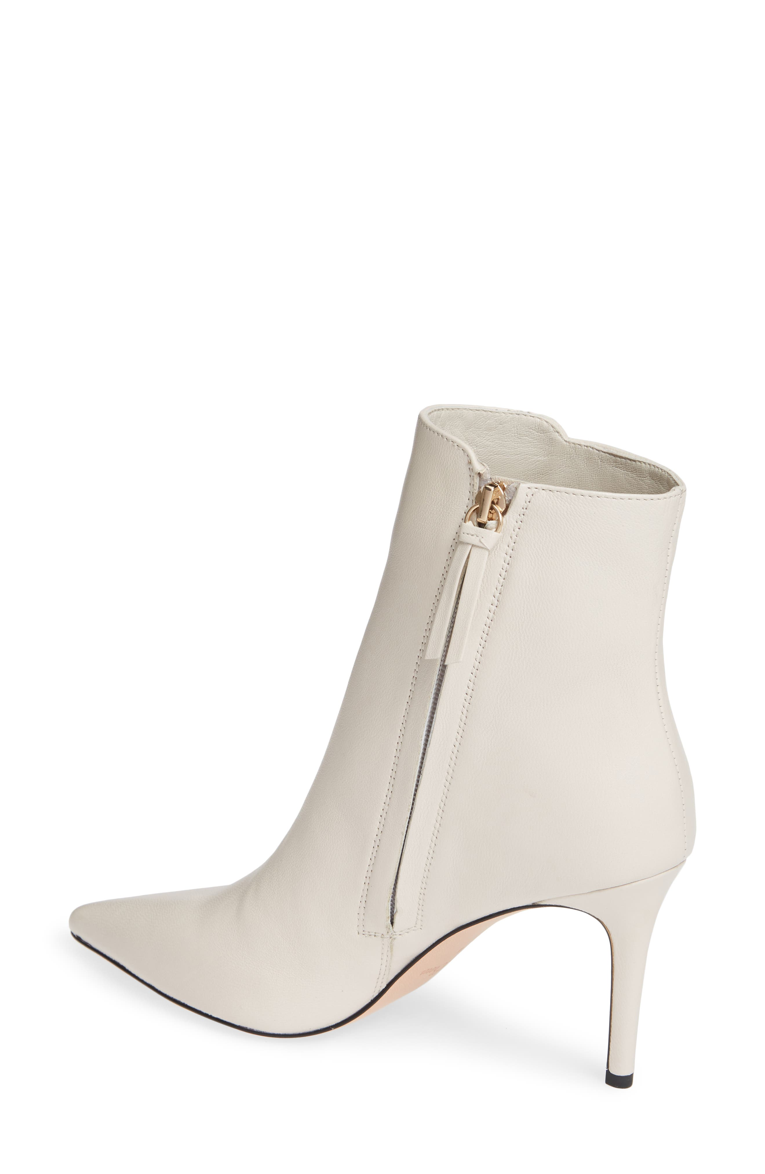 Pointed Stiletto Ankle Bootie,                             Alternate thumbnail 2, color,                             STONE LEATHER
