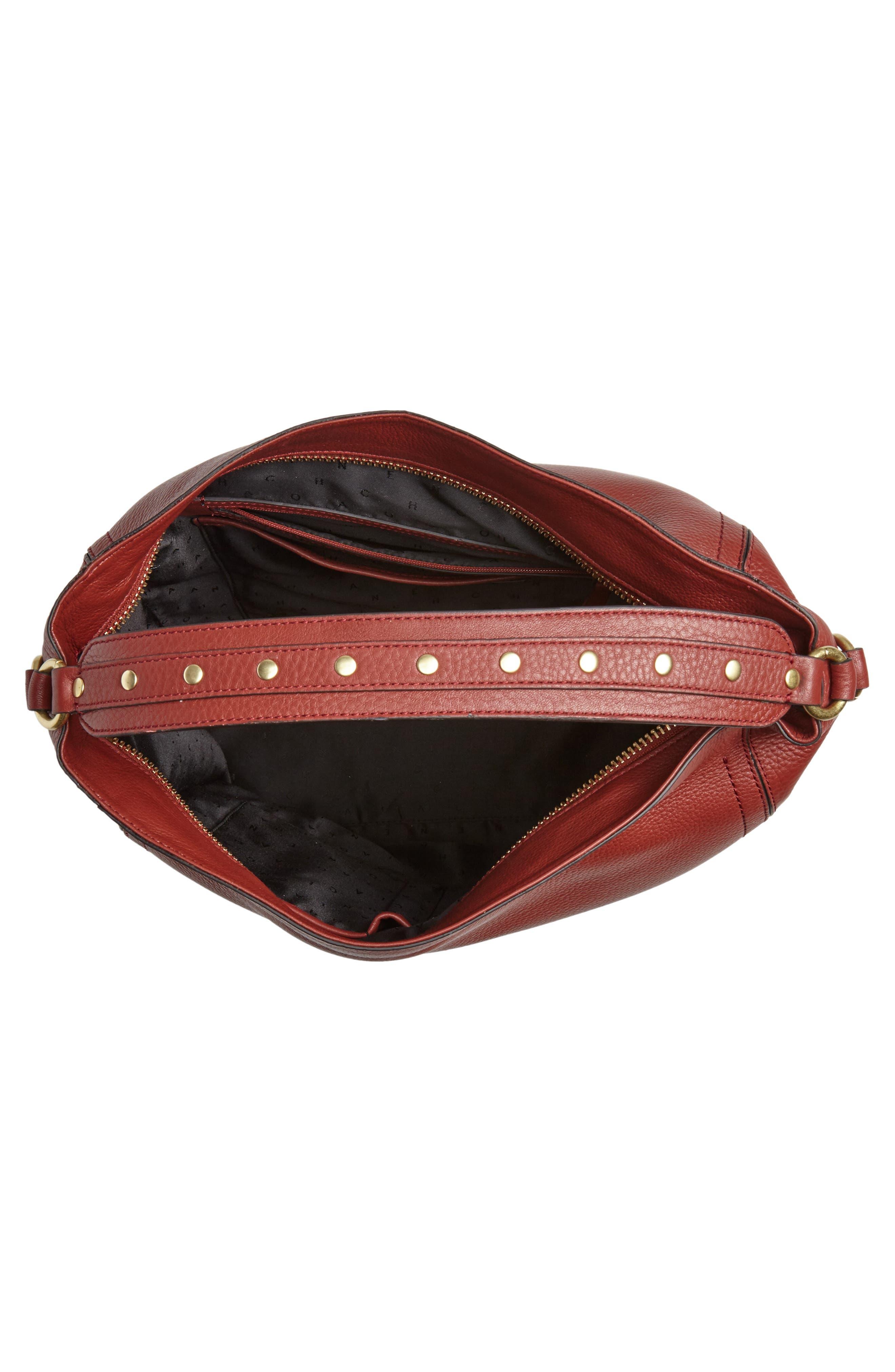 Cassidy RFID Pebbled Leather Bucket Bag,                             Alternate thumbnail 14, color,