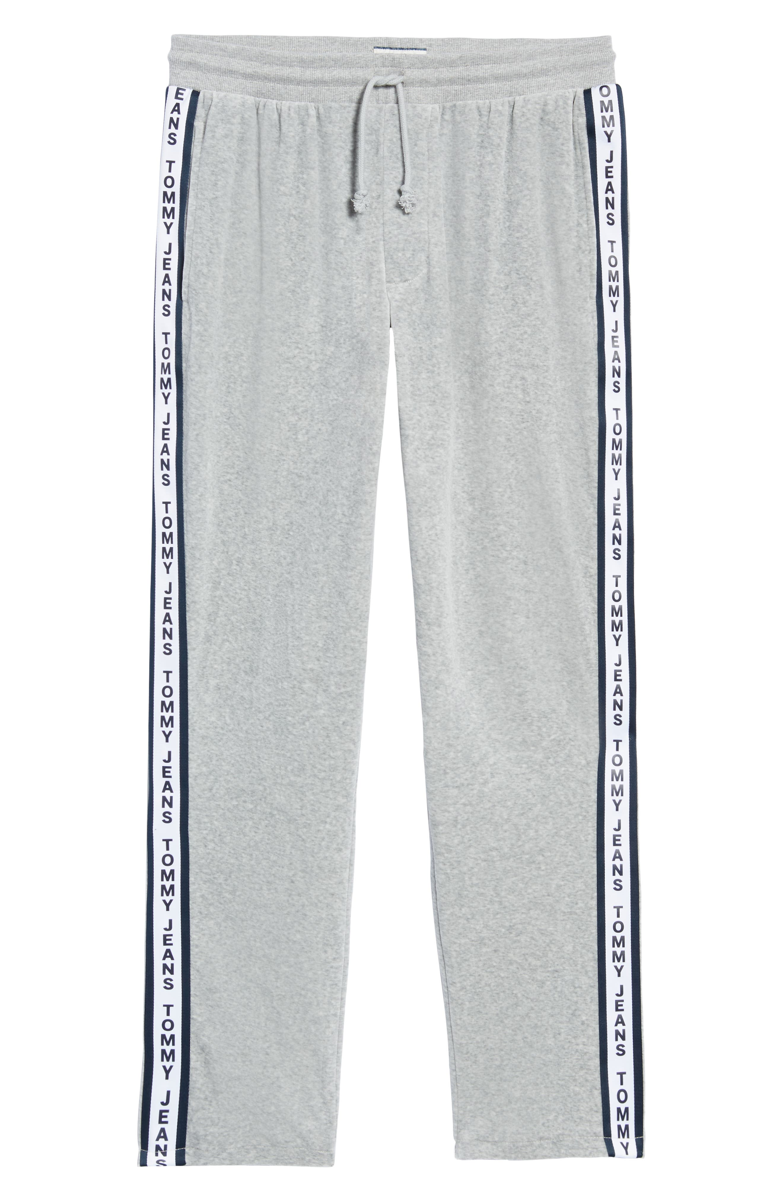Relaxed Fit Velour Sweatpants,                             Alternate thumbnail 6, color,                             LIGHT GREY HEATHER