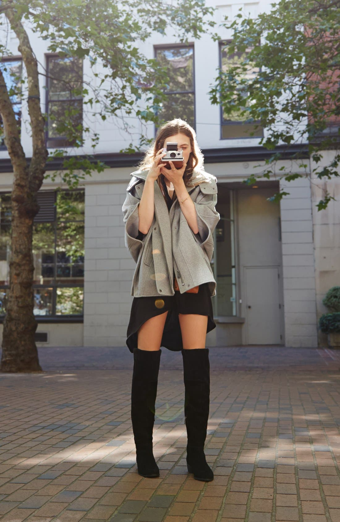 'Johanna' Over the Knee Suede Boot,                             Alternate thumbnail 6, color,                             001
