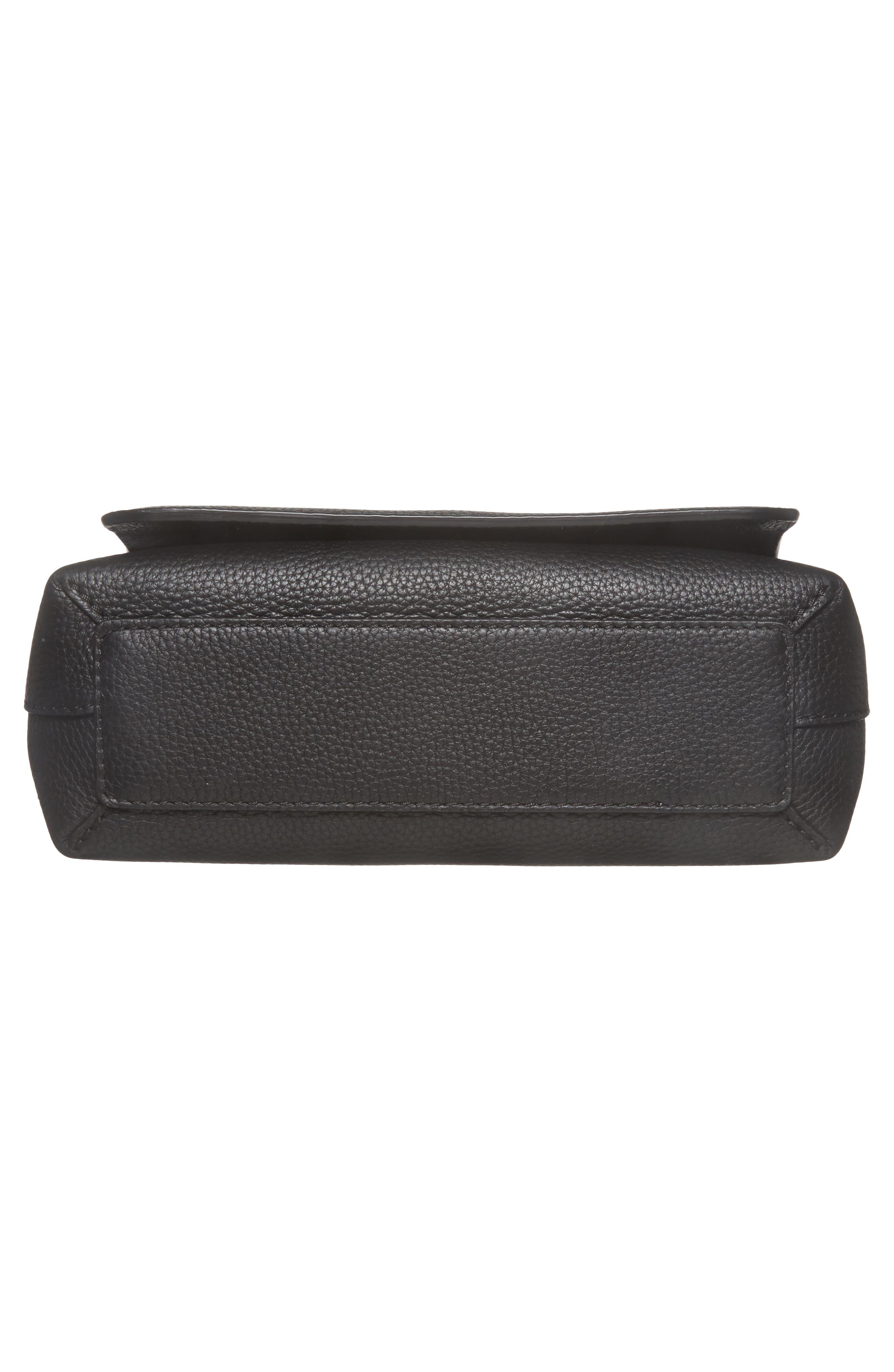 Small Burleigh Leather Crossbody Bag,                             Alternate thumbnail 6, color,                             001