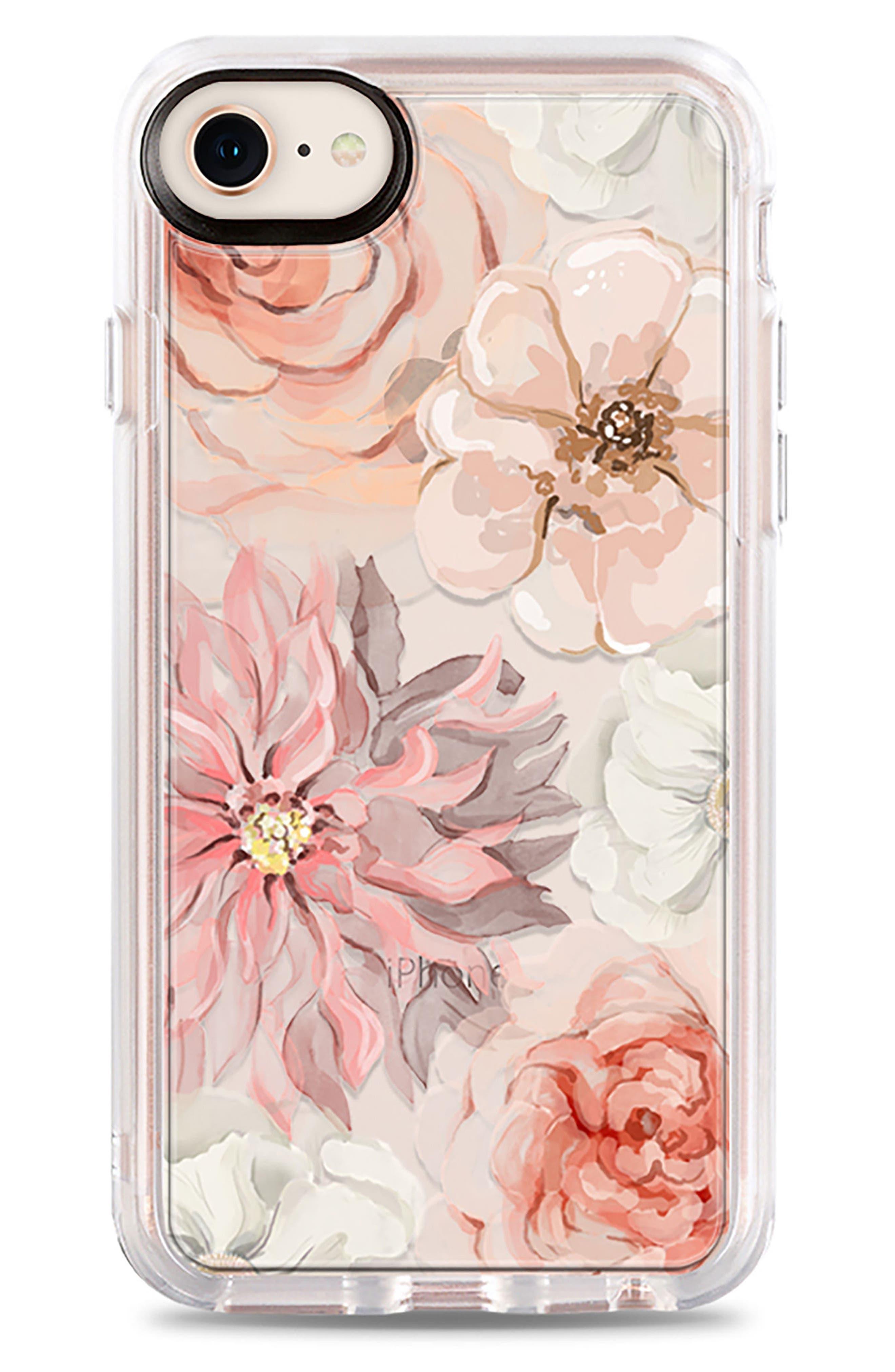 Pretty Blush iPhone 7/8 & 7/8 Plus Case,                             Main thumbnail 1, color,                             BLUSH PINK
