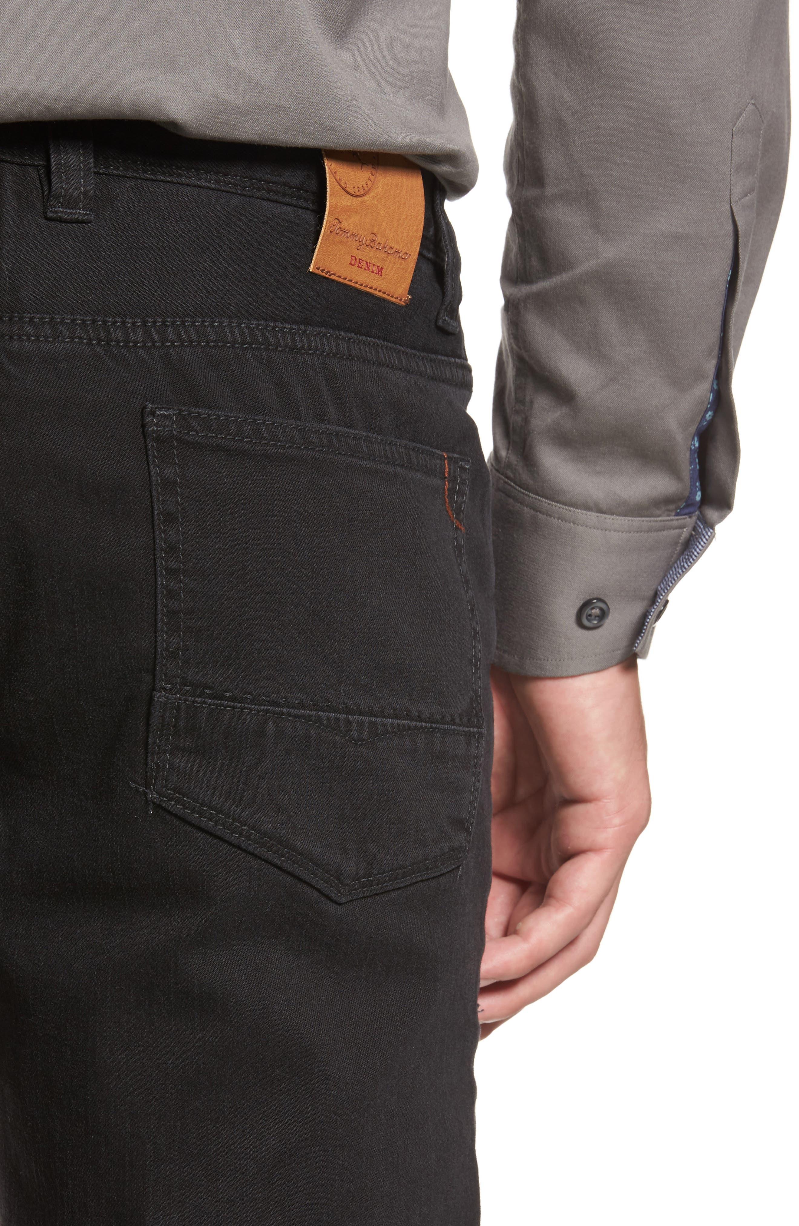 Sand Drifter Straight Leg Jeans,                             Alternate thumbnail 4, color,                             001