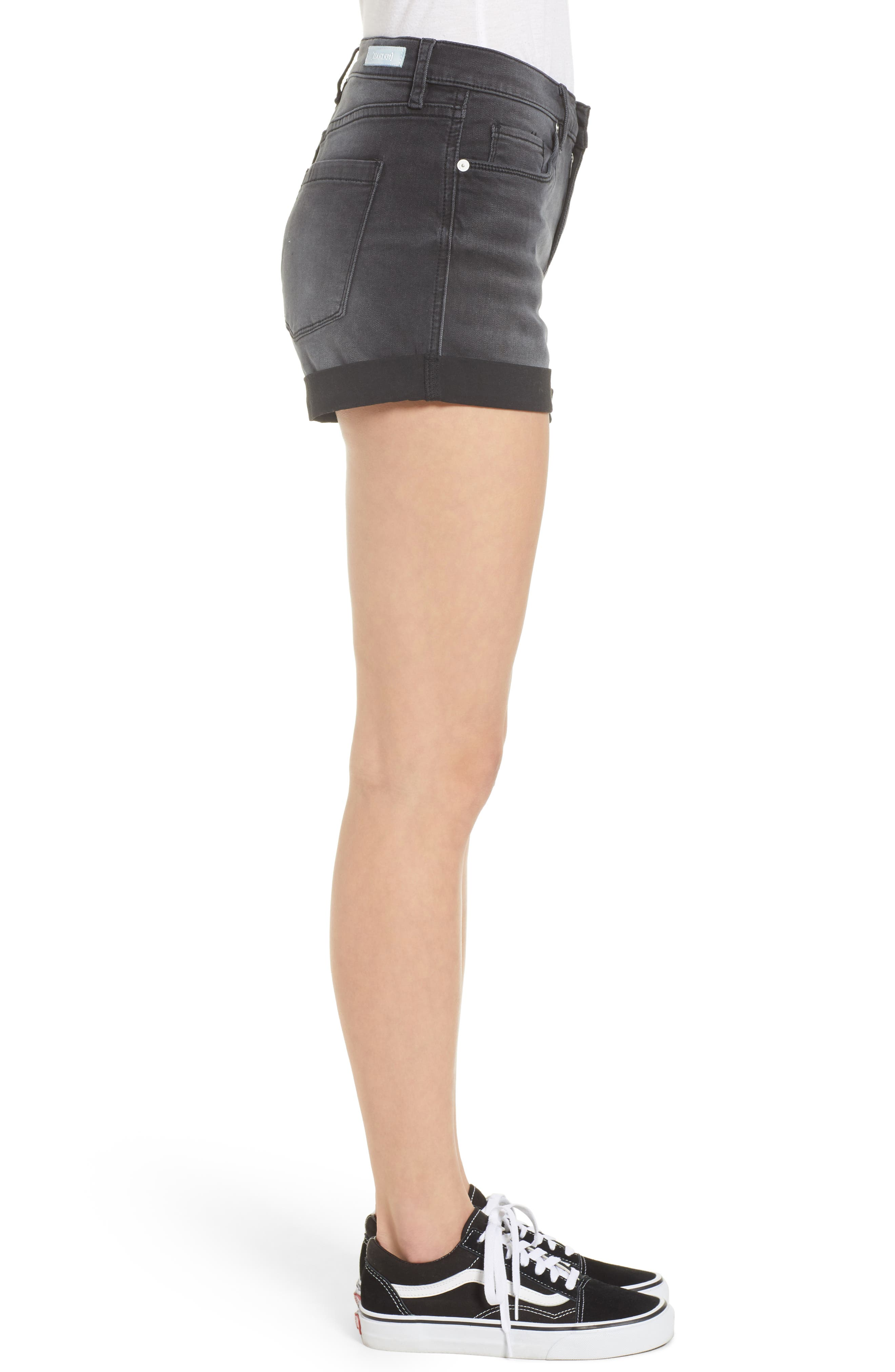 The Fulton Cuff Hem Denim Shorts,                             Alternate thumbnail 3, color,                             001
