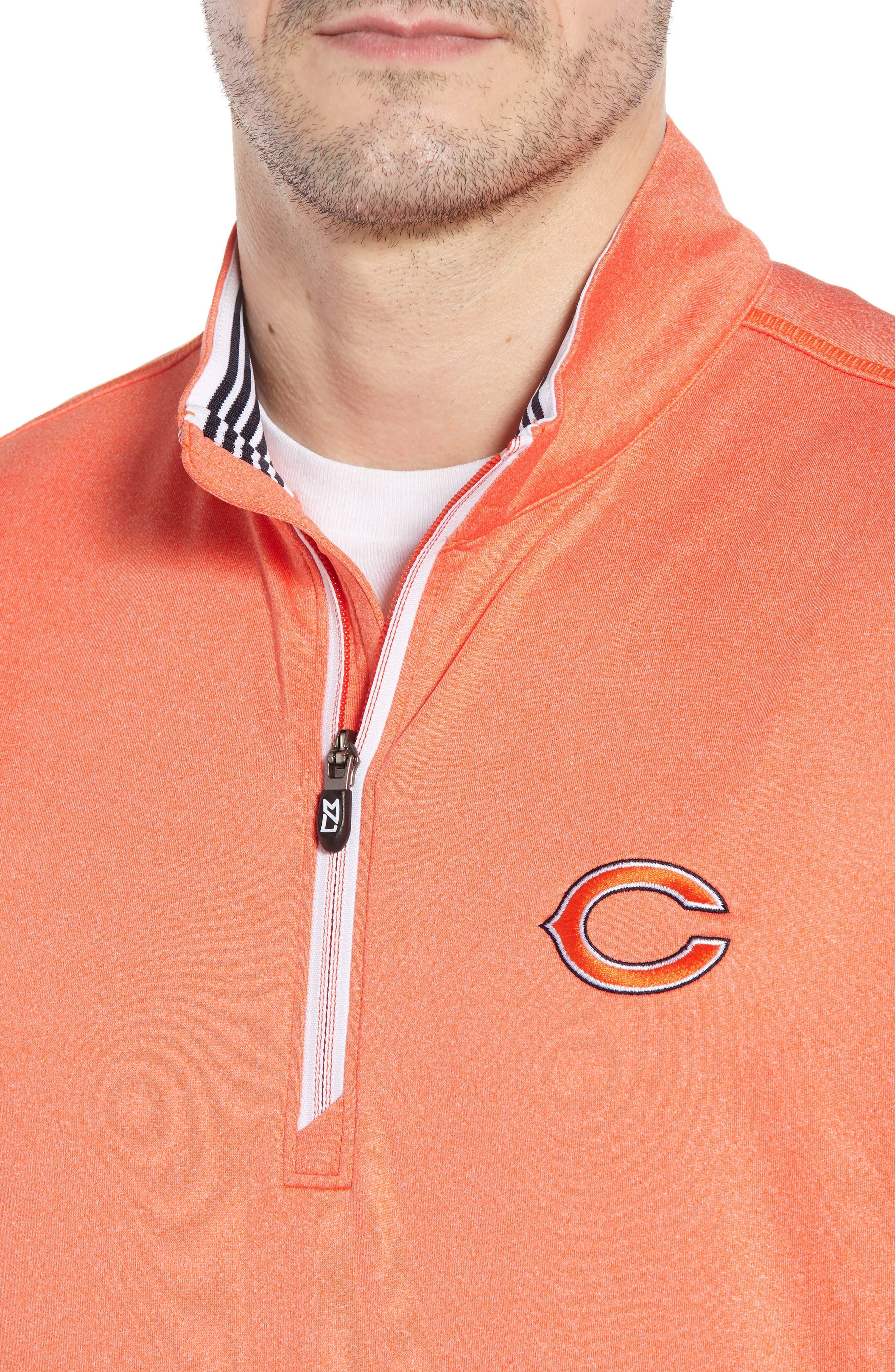 Endurance Chicago Bears Regular Fit Pullover,                             Alternate thumbnail 4, color,                             COLLEGE ORANGE HEATHER