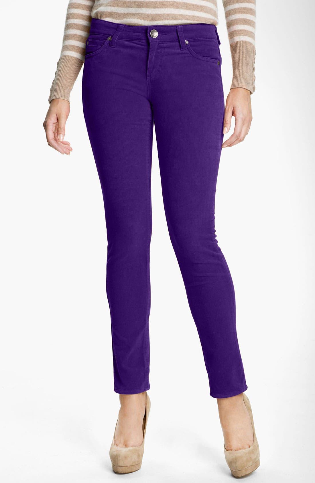 'Diana' Stretch Corduroy Skinny Pants,                             Main thumbnail 40, color,