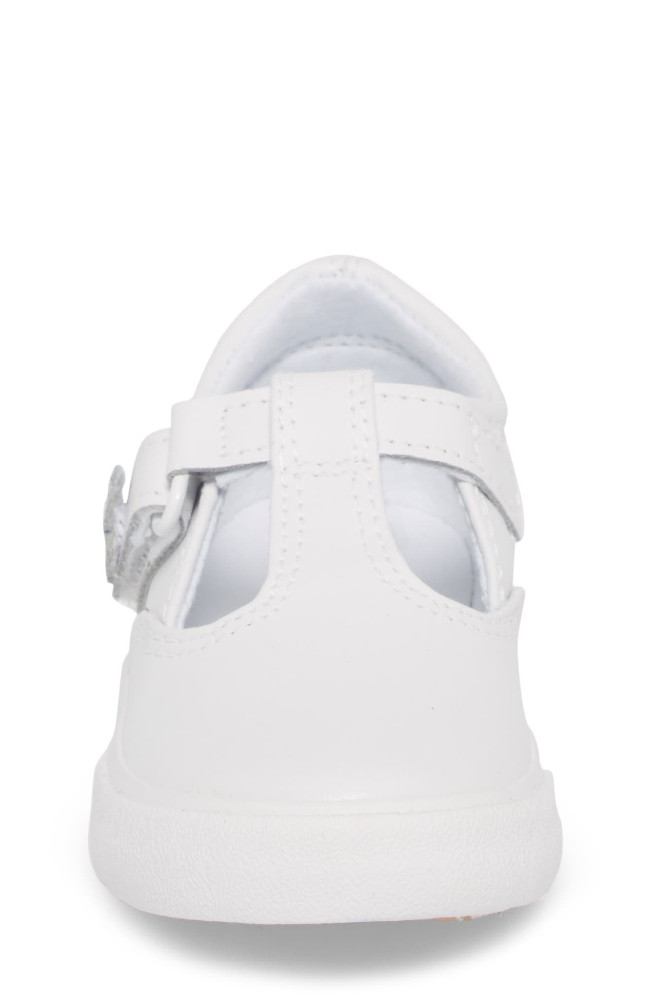 Daphne T-Strap Sneaker,                             Alternate thumbnail 4, color,                             NEW WHITE