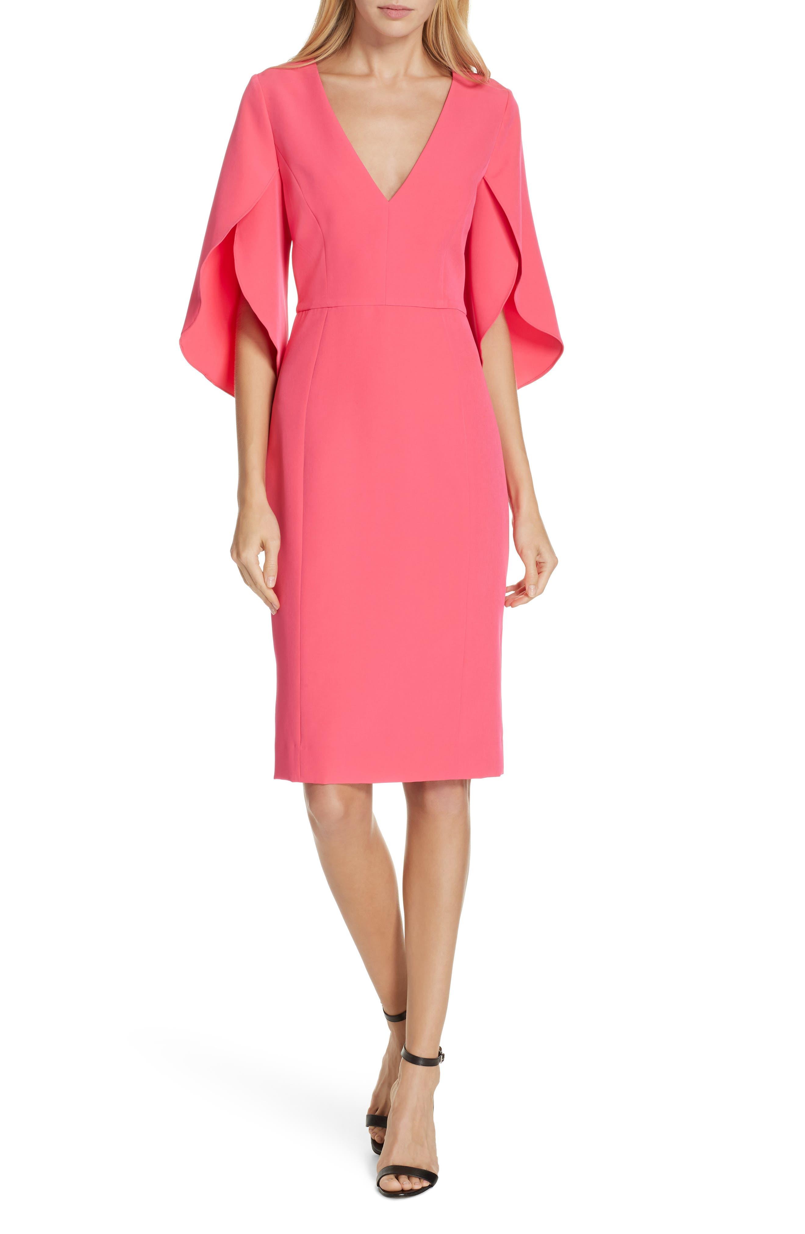Milly Jana Cady Sheath Dress, Pink