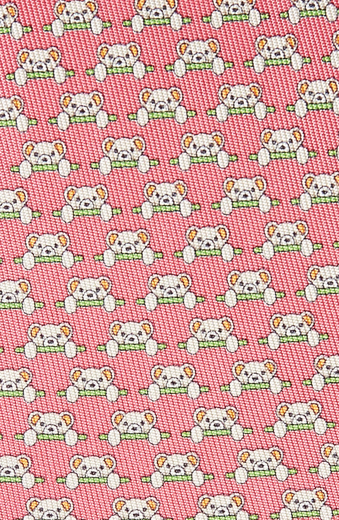 Dino Bear Print Silk Tie,                             Alternate thumbnail 7, color,