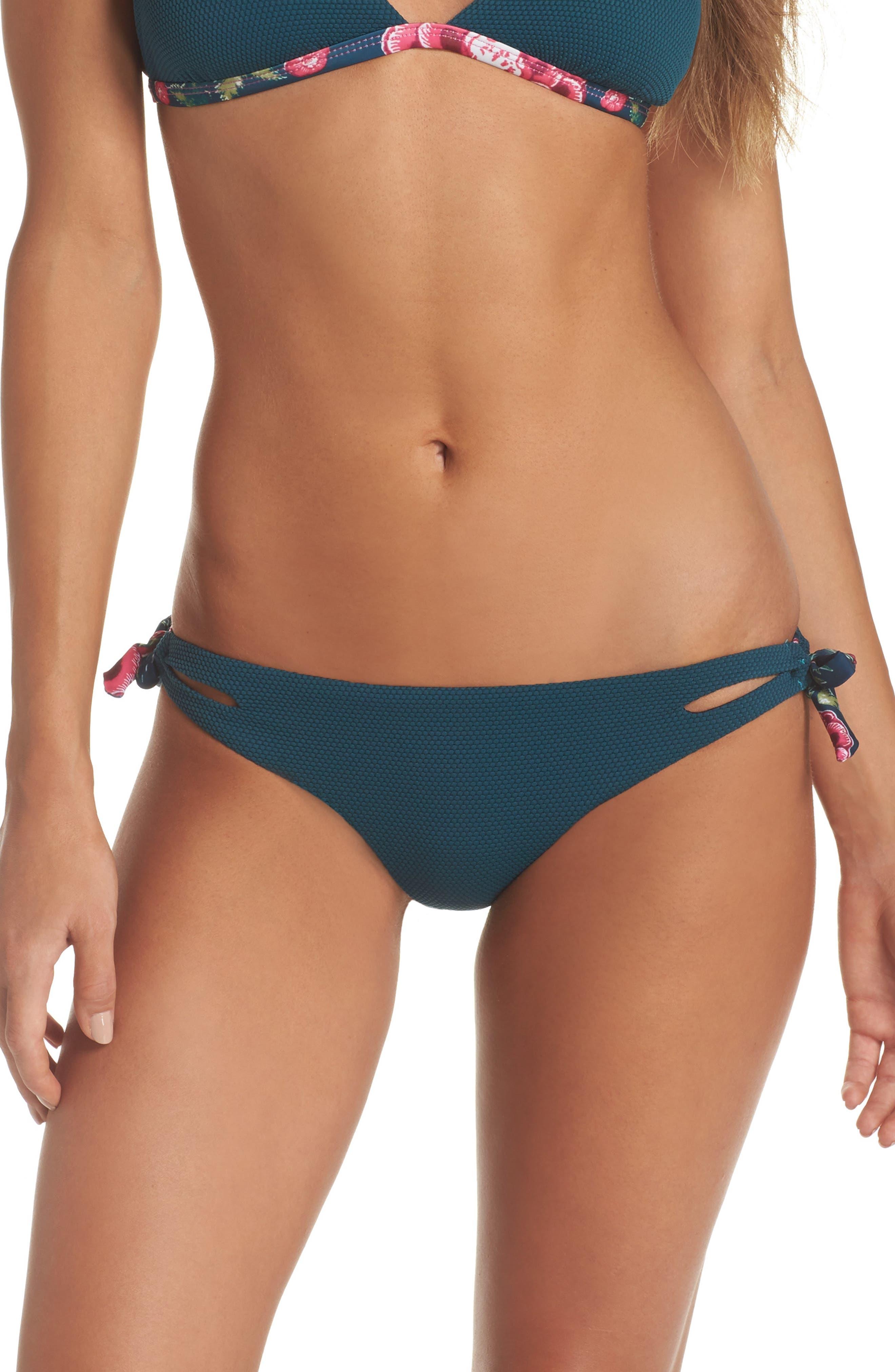 Side Tie Bikini Bottoms,                         Main,                         color, 448