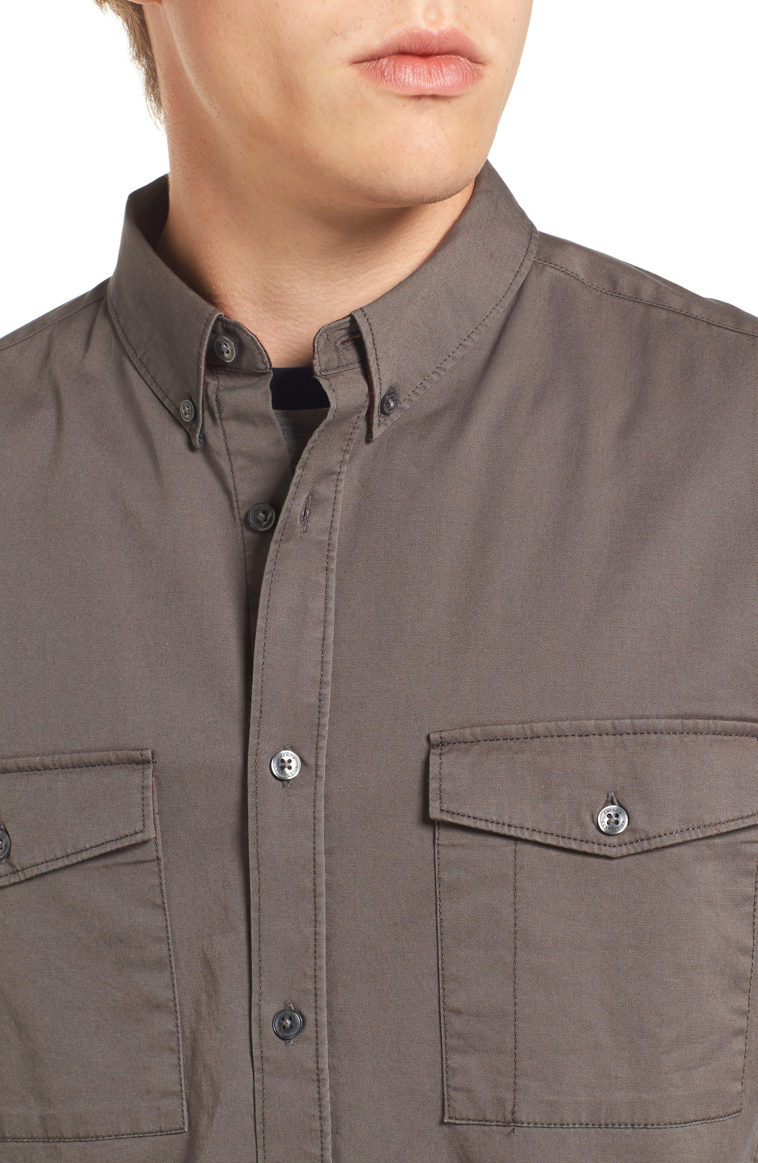 Regular Fit Twill Sport Shirt,                             Alternate thumbnail 4, color,                             201
