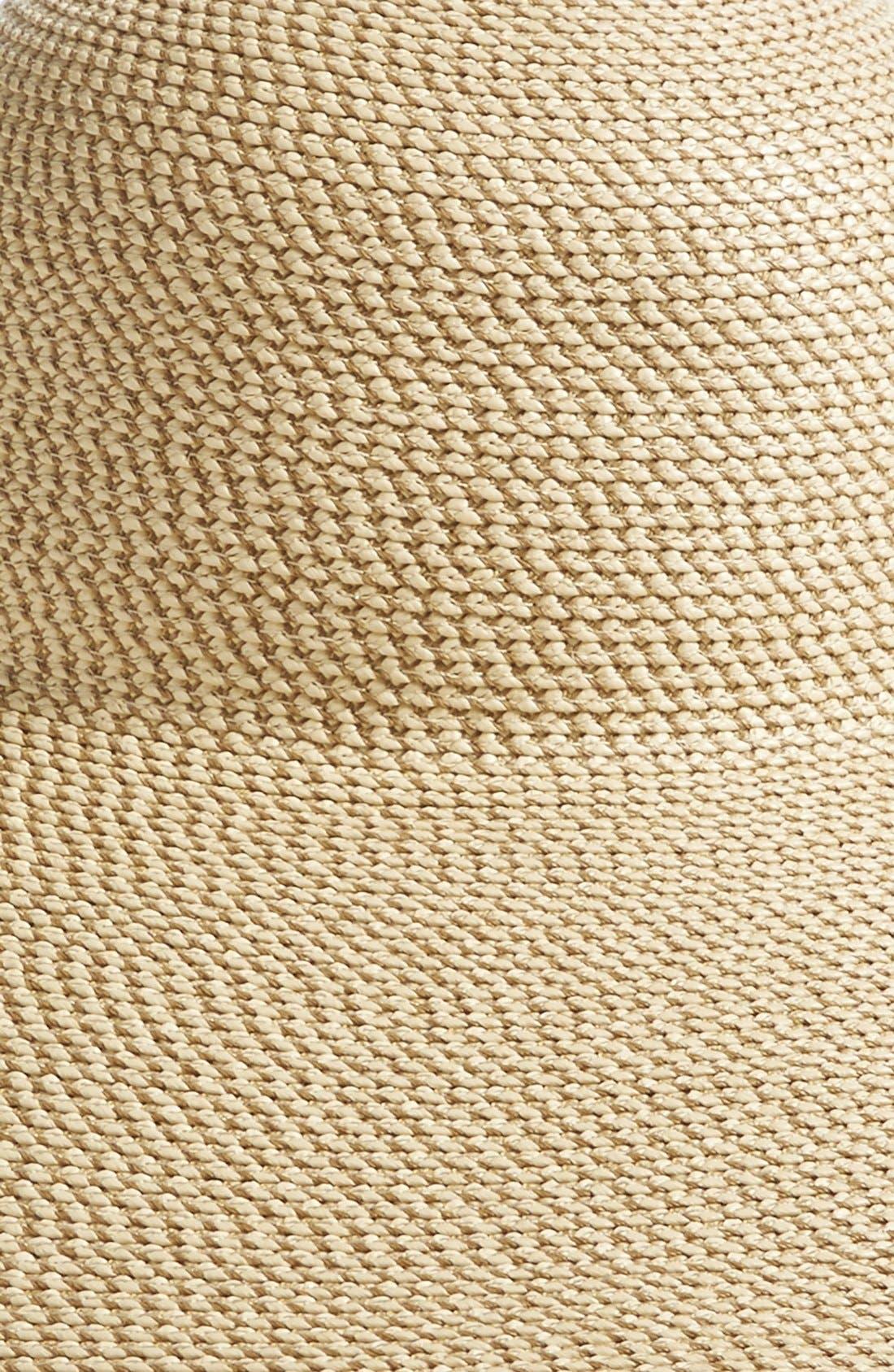 Floppy Straw Hat,                             Alternate thumbnail 2, color,                             PEANUT