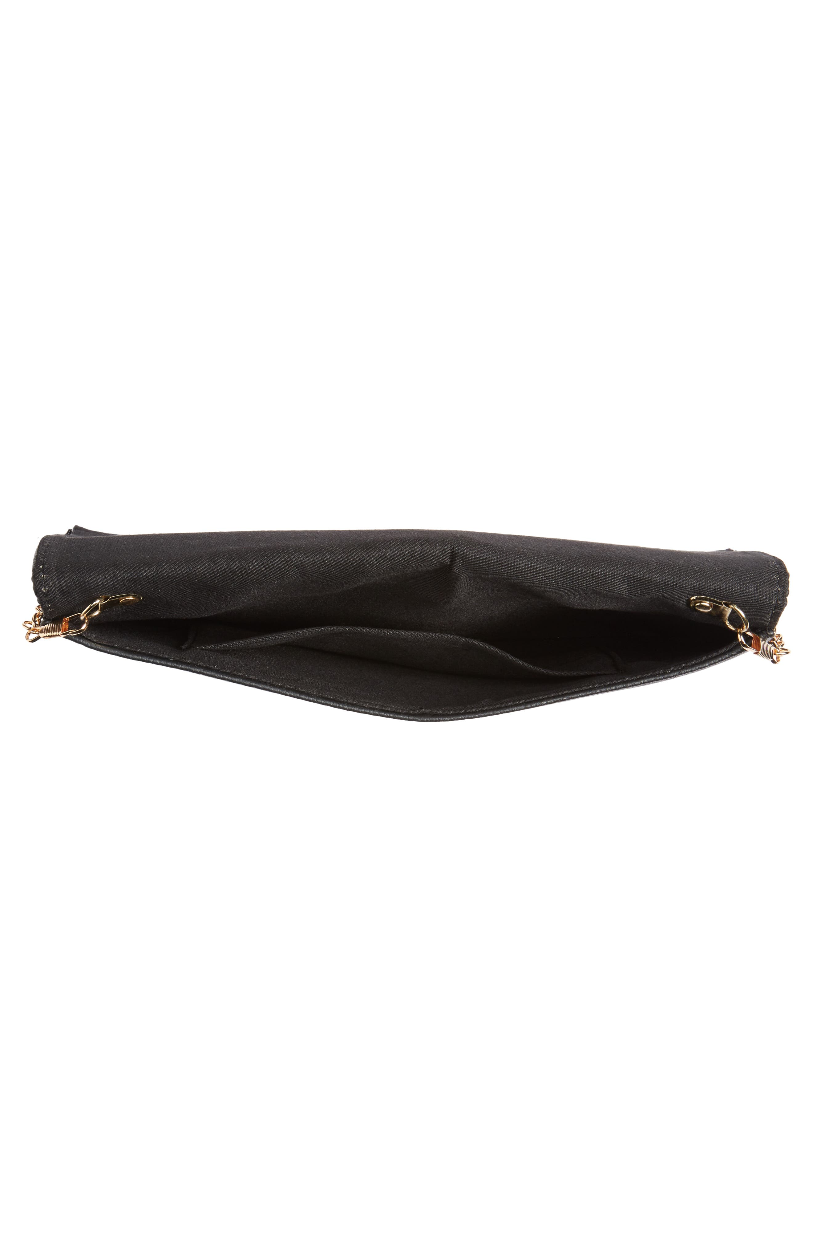 NATASHA COUTURE,                             Natasha Chain Clutch,                             Alternate thumbnail 4, color,                             001