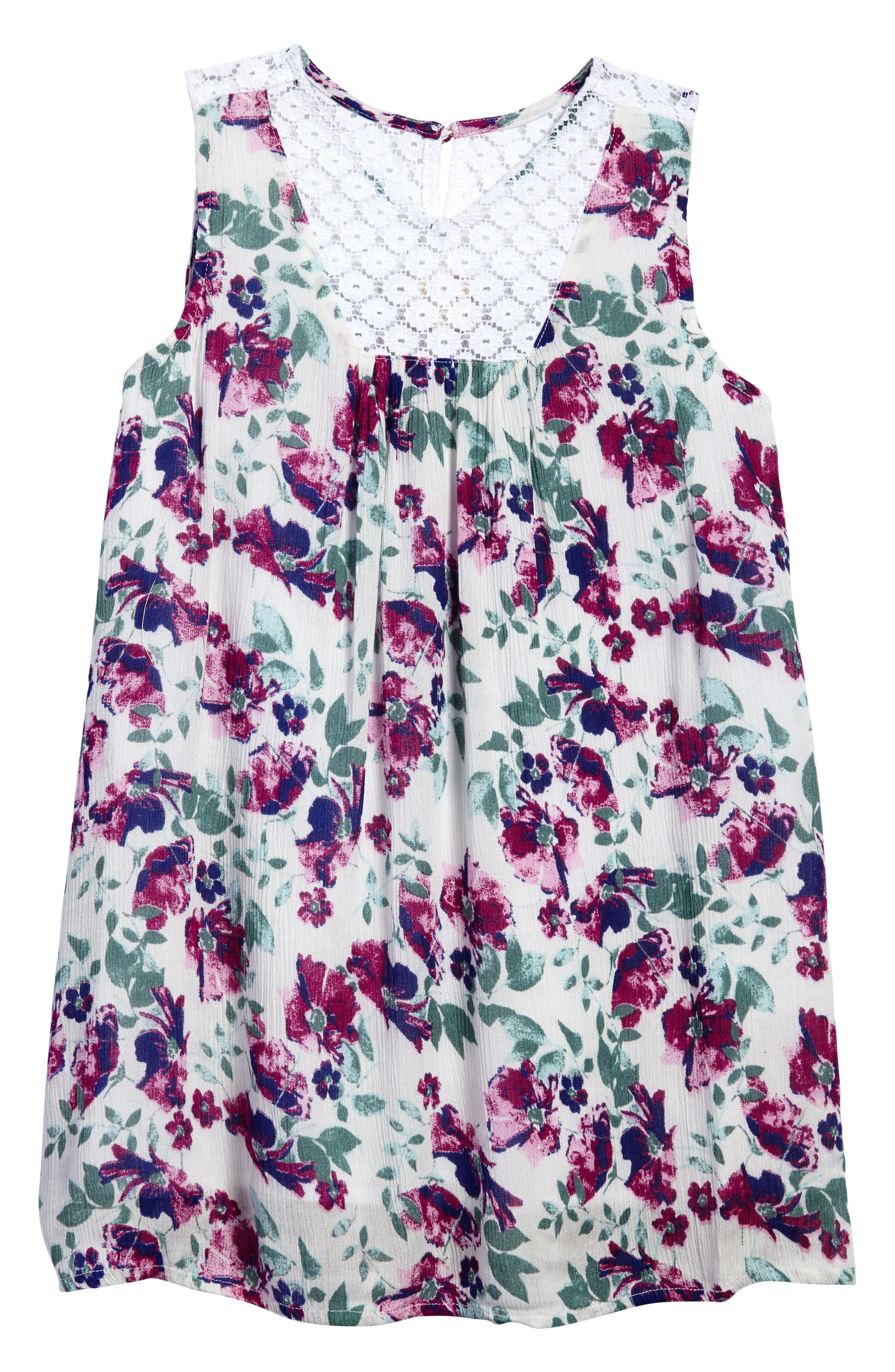 Lia Floral Woven Dress,                             Main thumbnail 1, color,                             100
