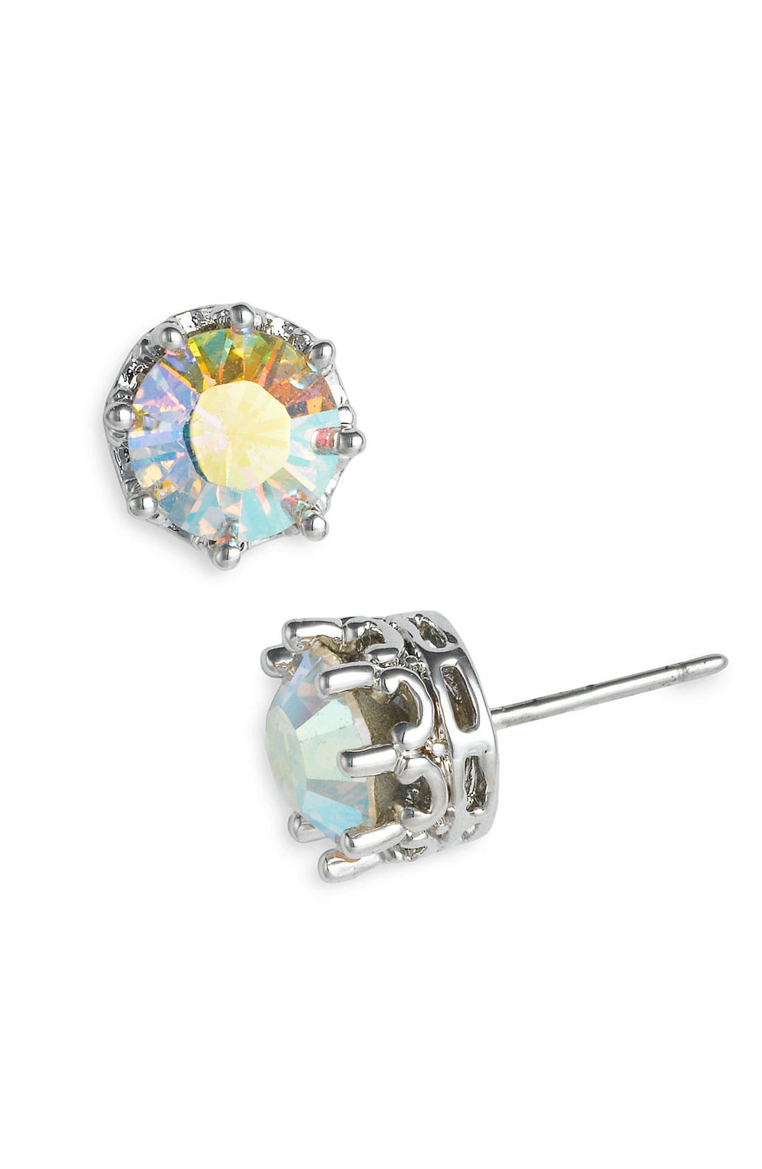 JUICY COUTURE,                             'Princess' Cubic Zirconia Stud Earrings,                             Main thumbnail 1, color,                             040