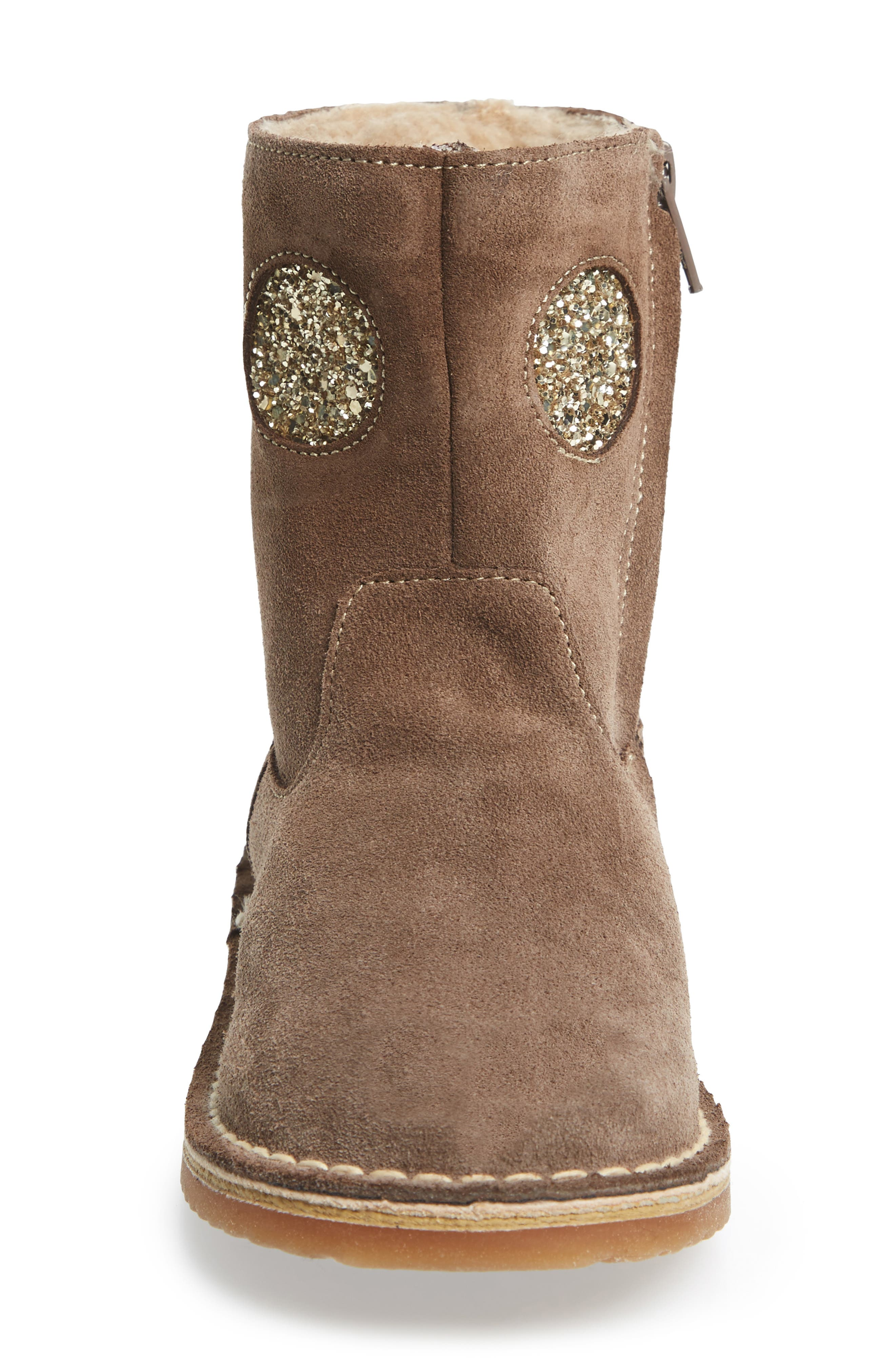Faux Fur Glitter Star Boot,                             Alternate thumbnail 4, color,                             214