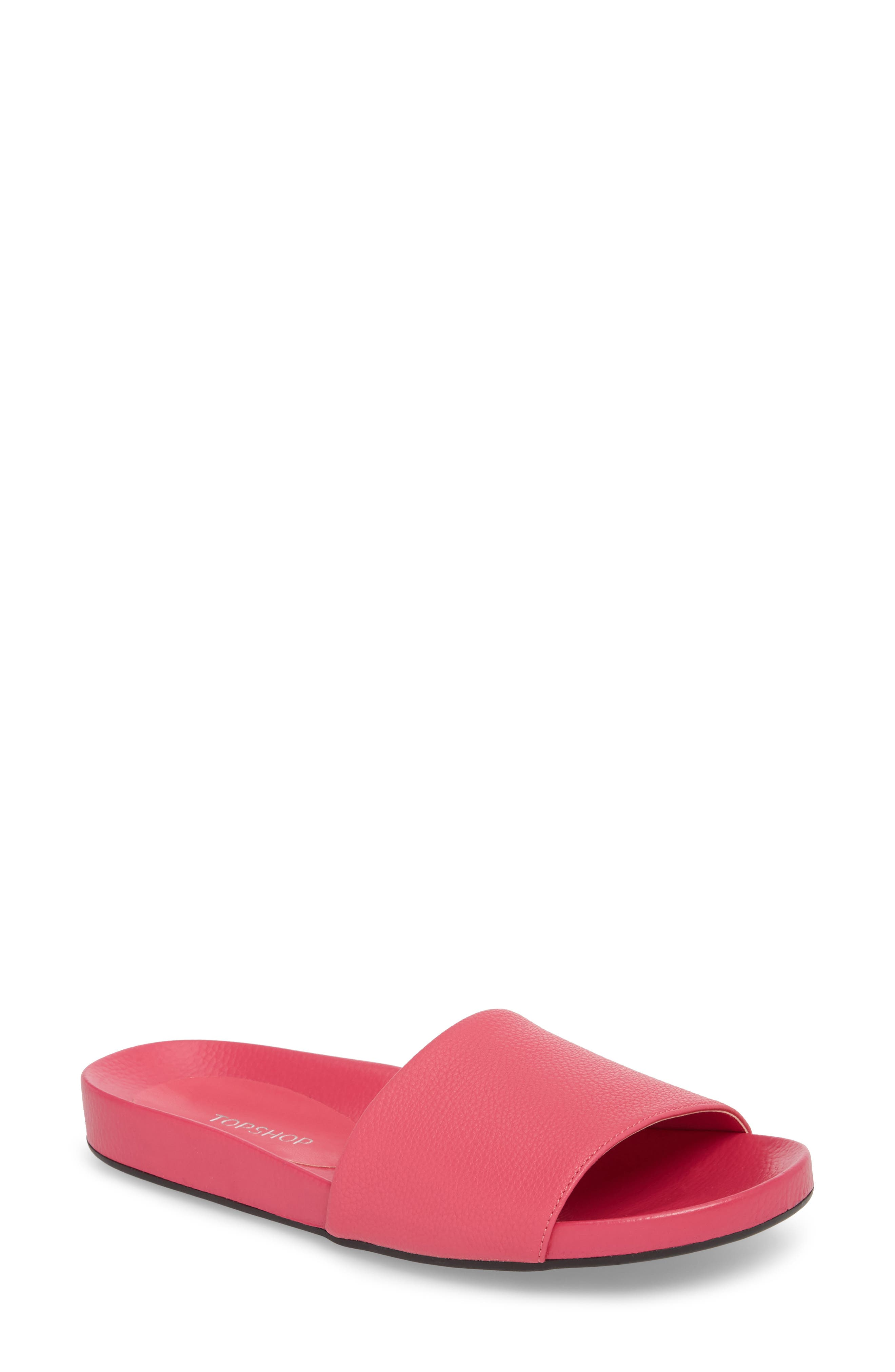 Homie Refined Slide Sandal,                         Main,                         color, PINK