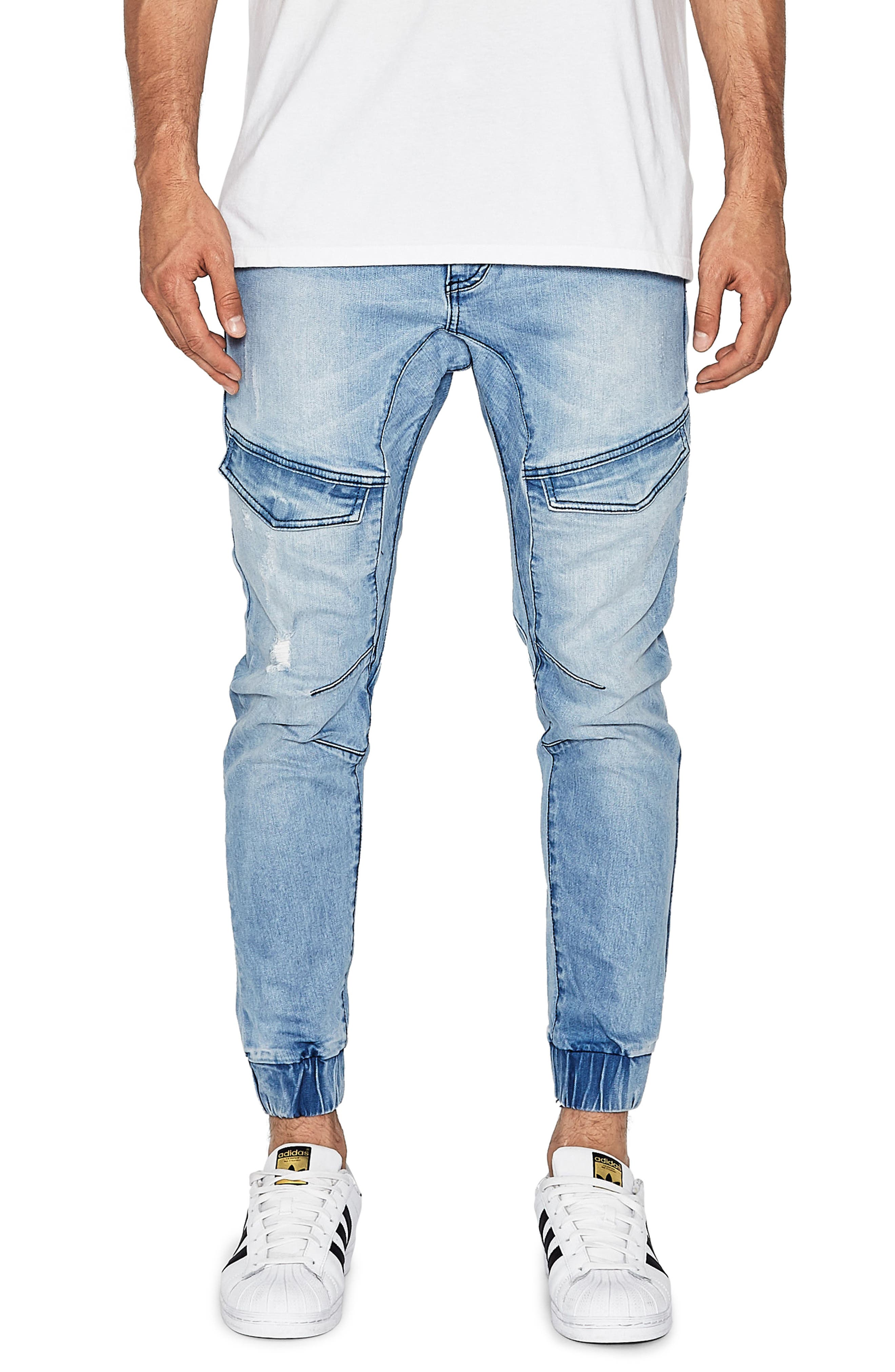 Flight Skinny Denim Jogger Pants,                             Main thumbnail 6, color,