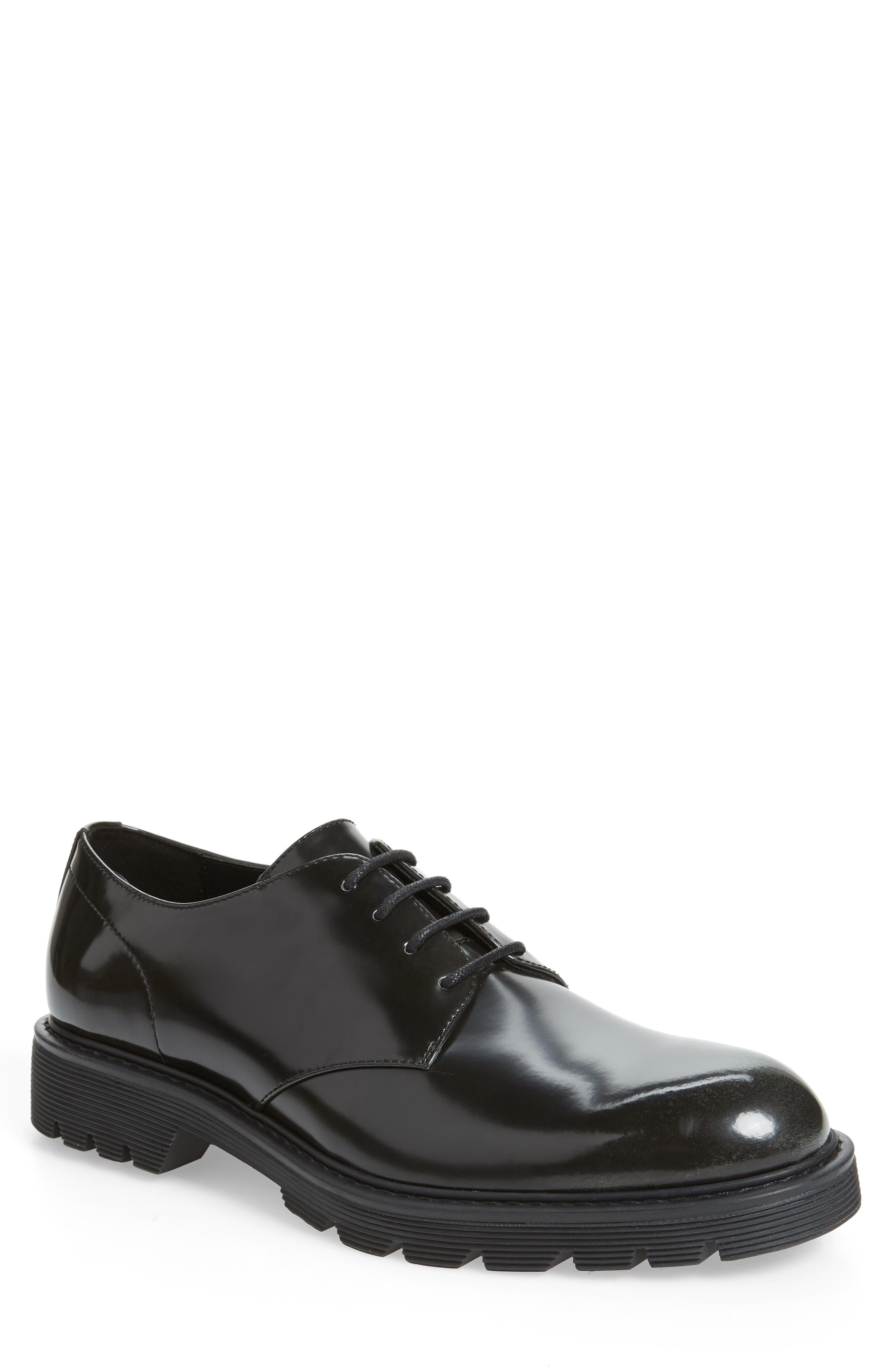 CALVIN KLEIN Ferguson Plain Toe Derby, Main, color, BLACK