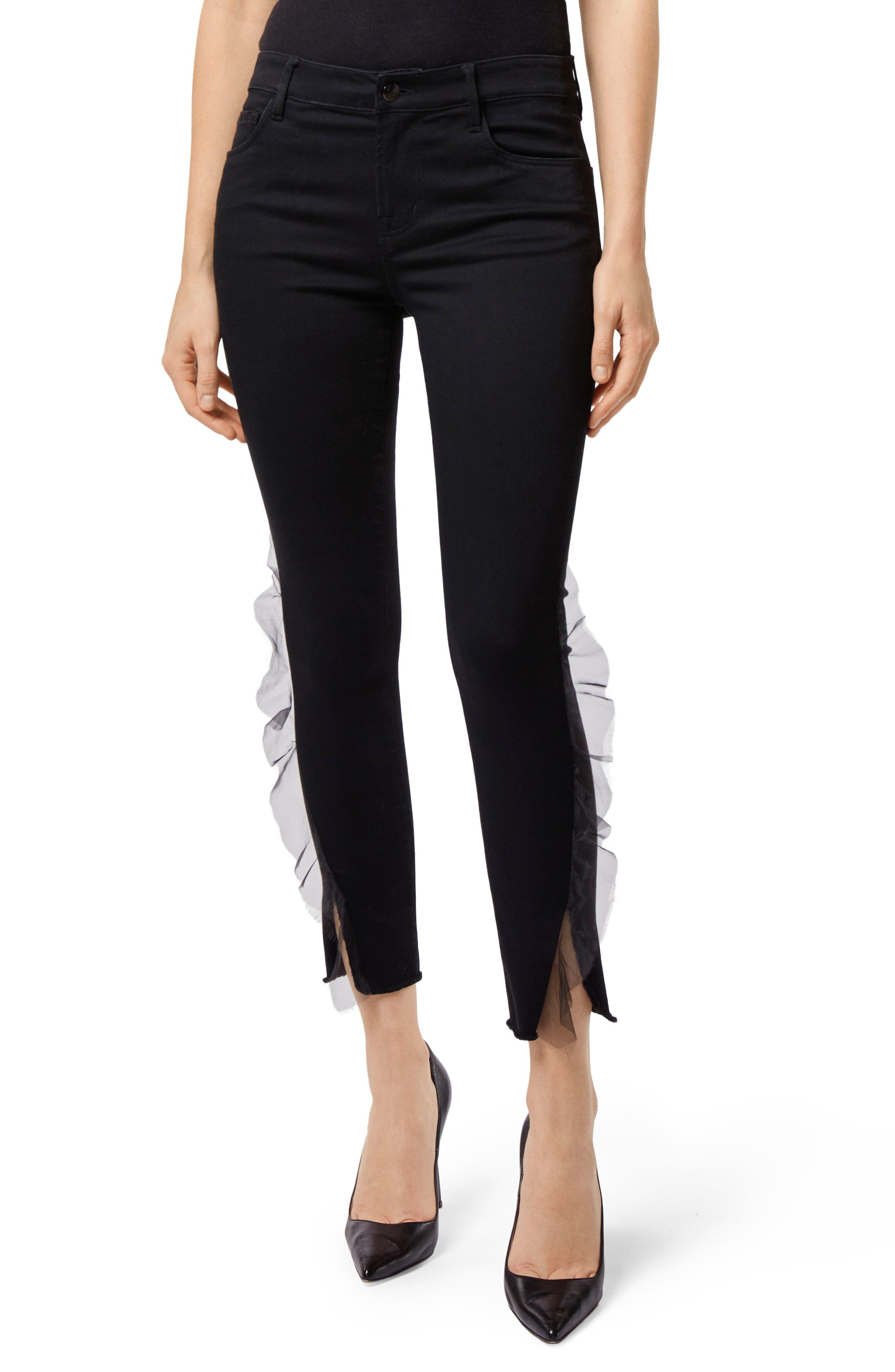 835 Split Hem Crop Skinny Jeans,                         Main,                         color, 008