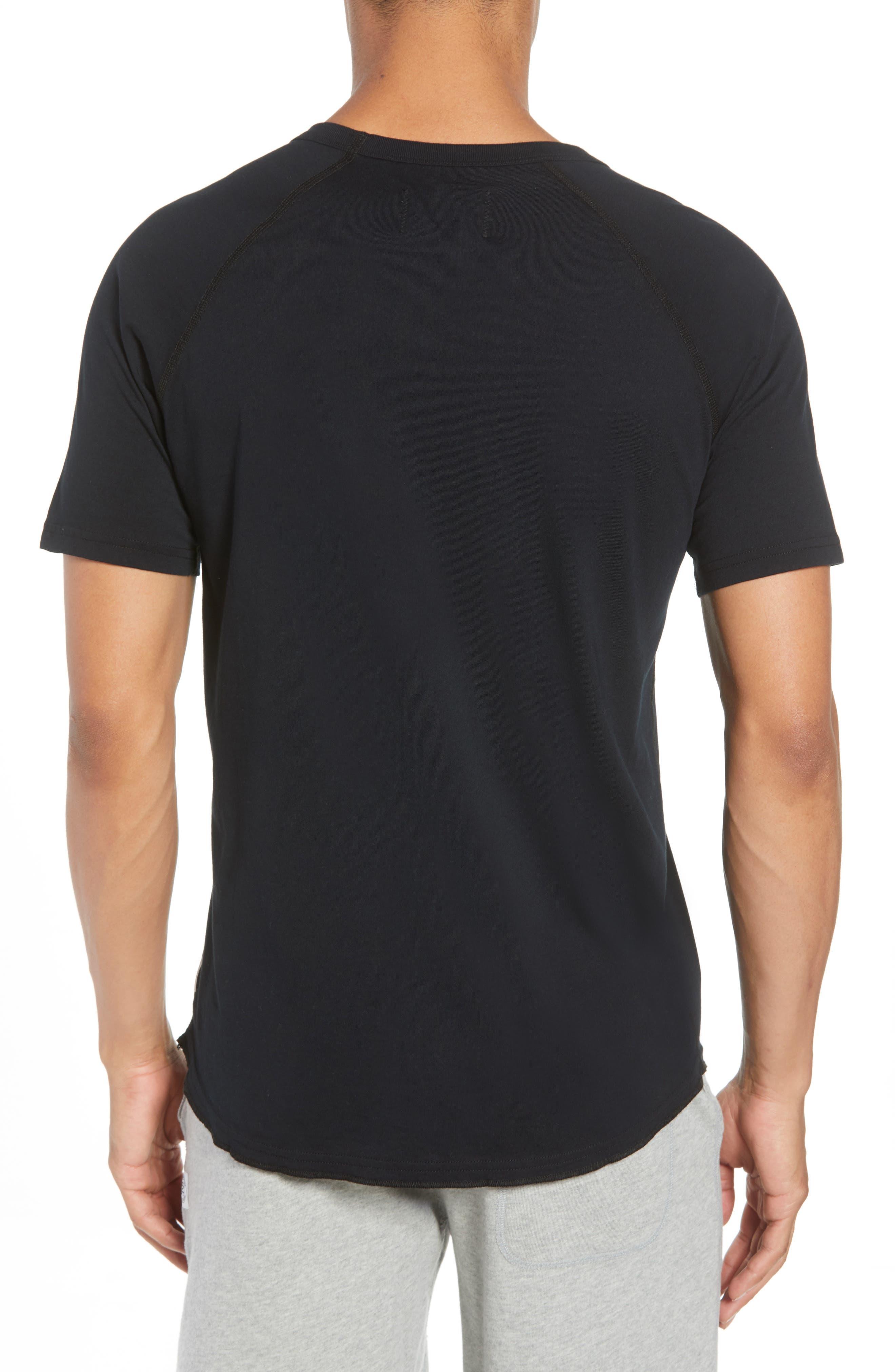 Logo Crewneck T-Shirt,                             Alternate thumbnail 2, color,                             BLACK
