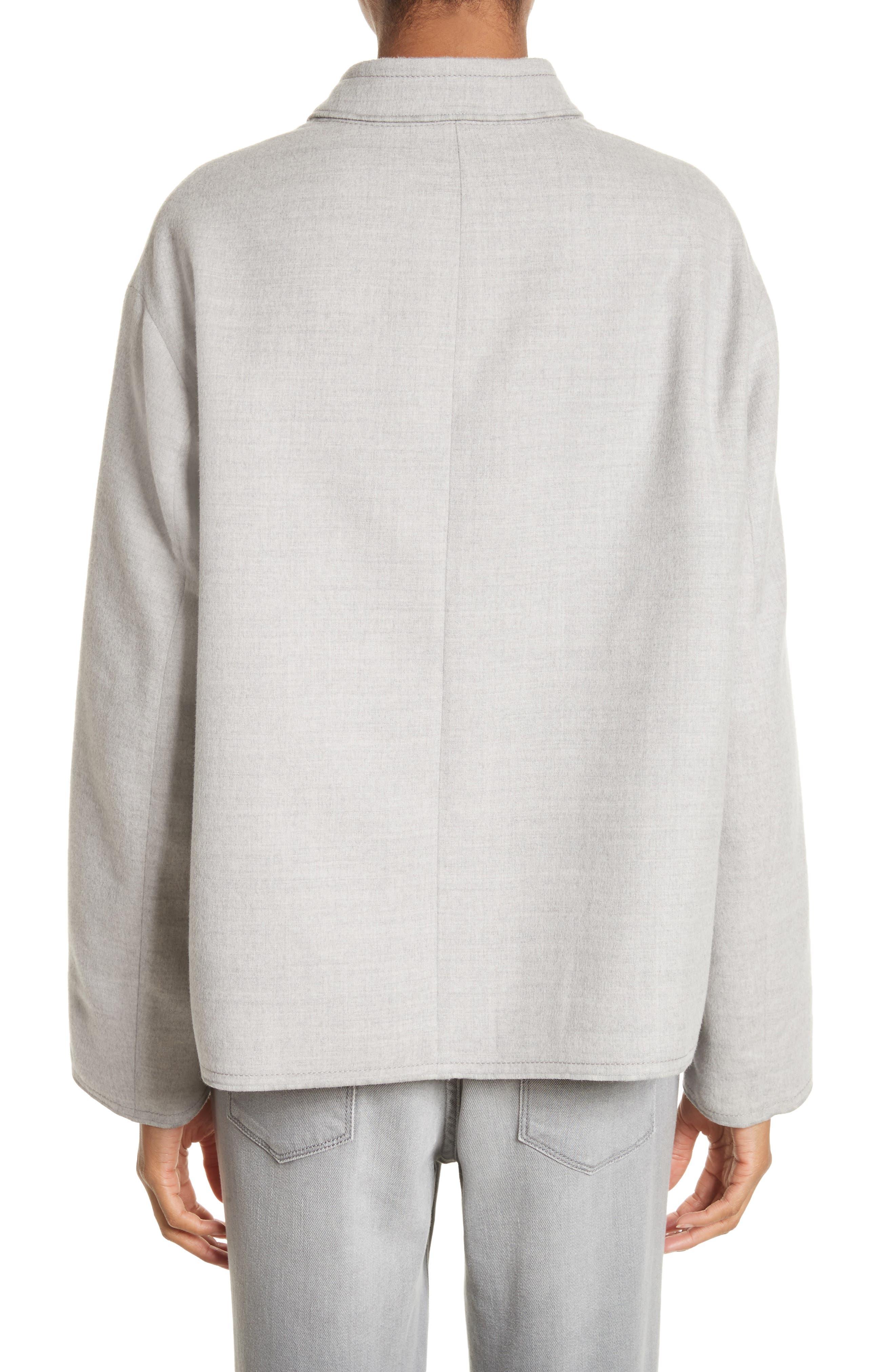 Double Face Silk & Wool Jacket,                             Alternate thumbnail 2, color,                             050