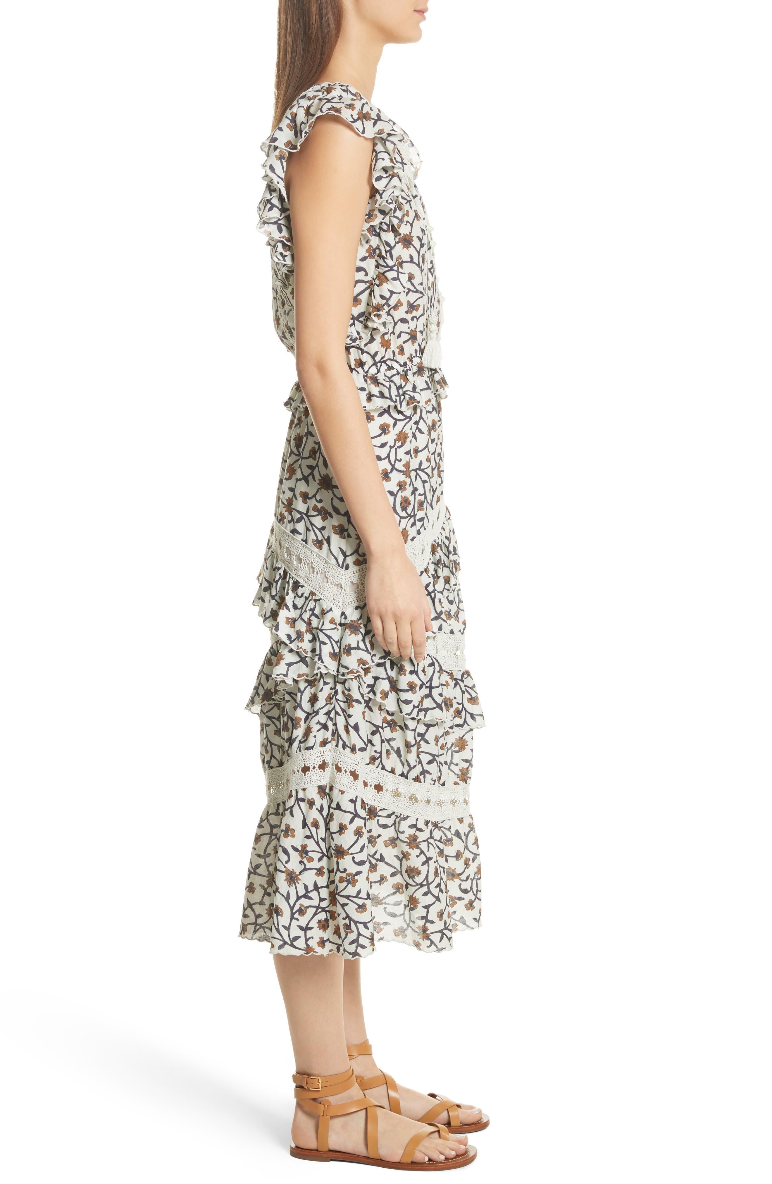 Rosalie Crochet Tier Dress,                             Alternate thumbnail 3, color,