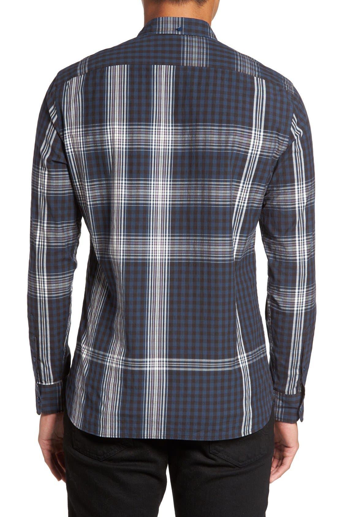 'Blackrock' Trim Fit Plaid Sport Shirt,                             Alternate thumbnail 2, color,                             410