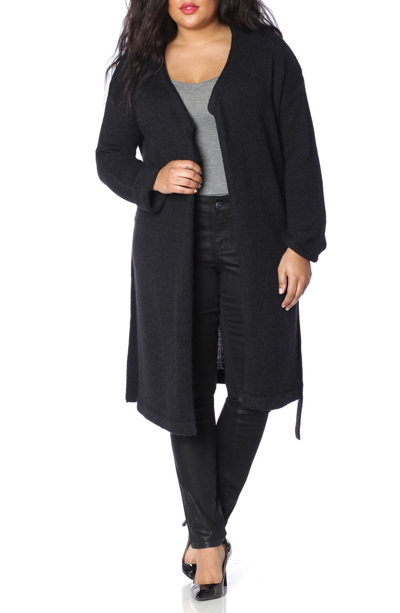 Side Button Long Cardigan,                             Main thumbnail 1, color,
