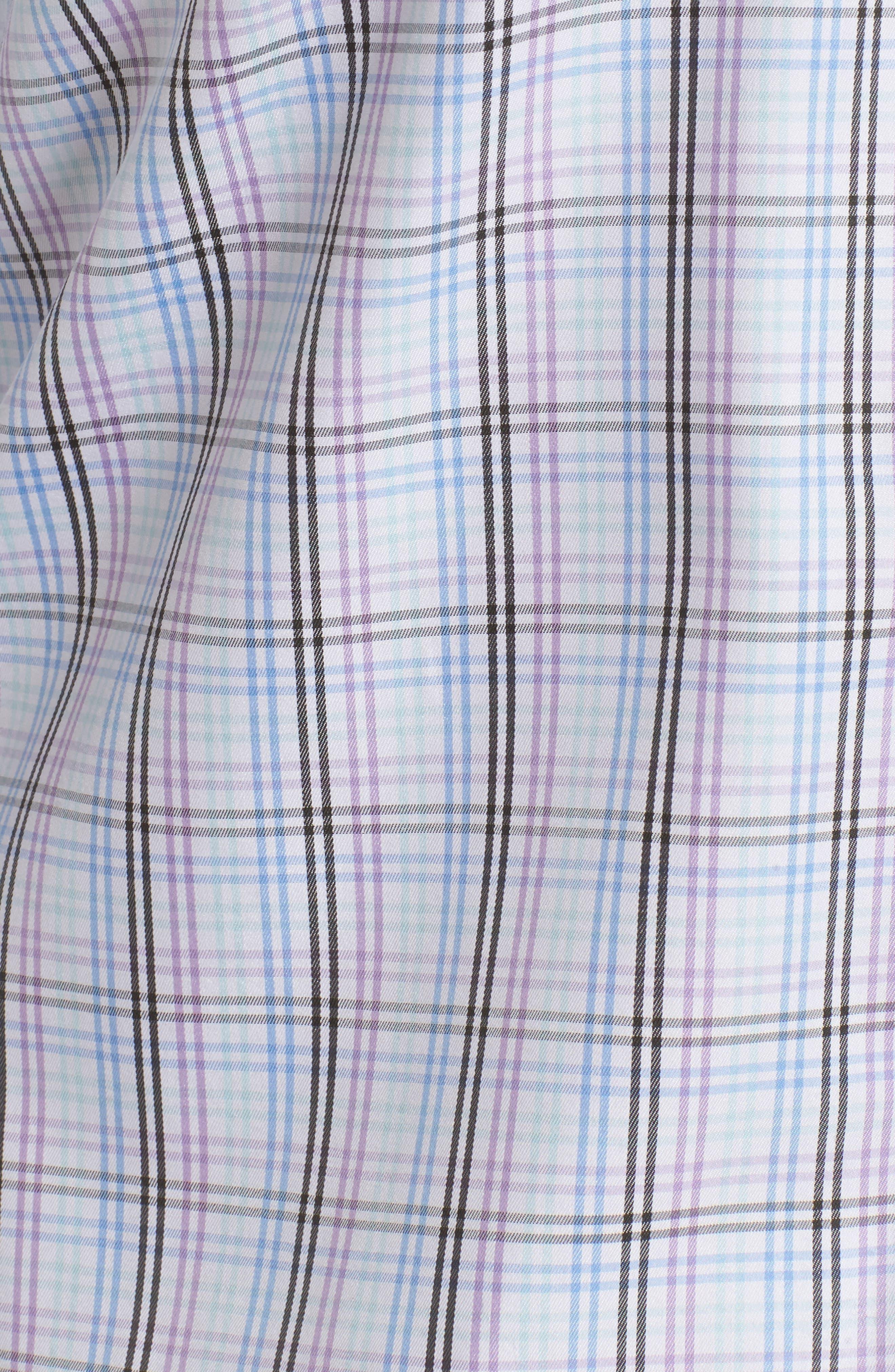 Crown Soft Daybreak Regular Fit Check Sport Shirt,                             Alternate thumbnail 5, color,                             422
