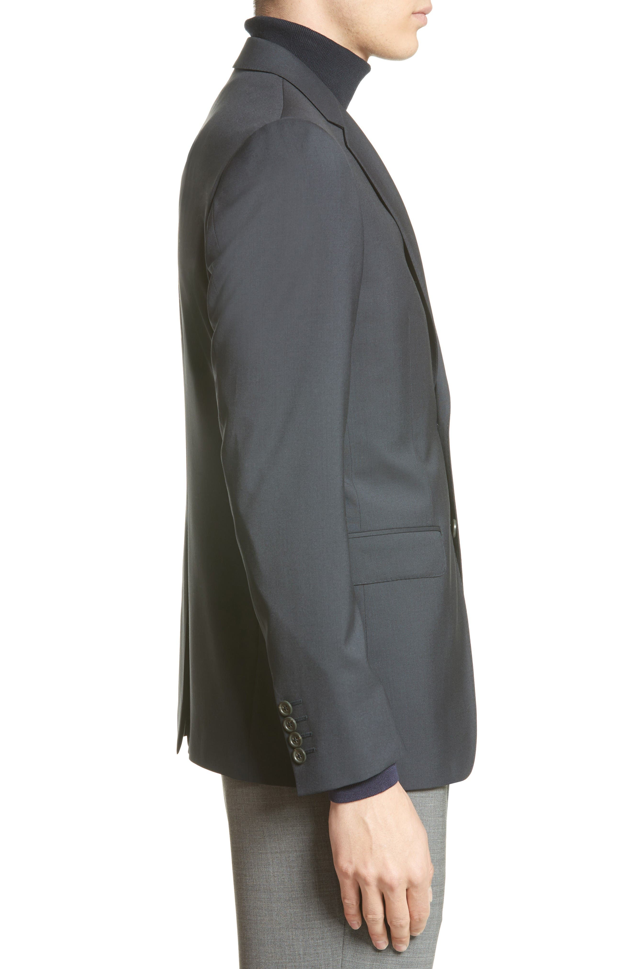 Tropical Wool Suit Jacket,                             Alternate thumbnail 10, color,                             NAVY