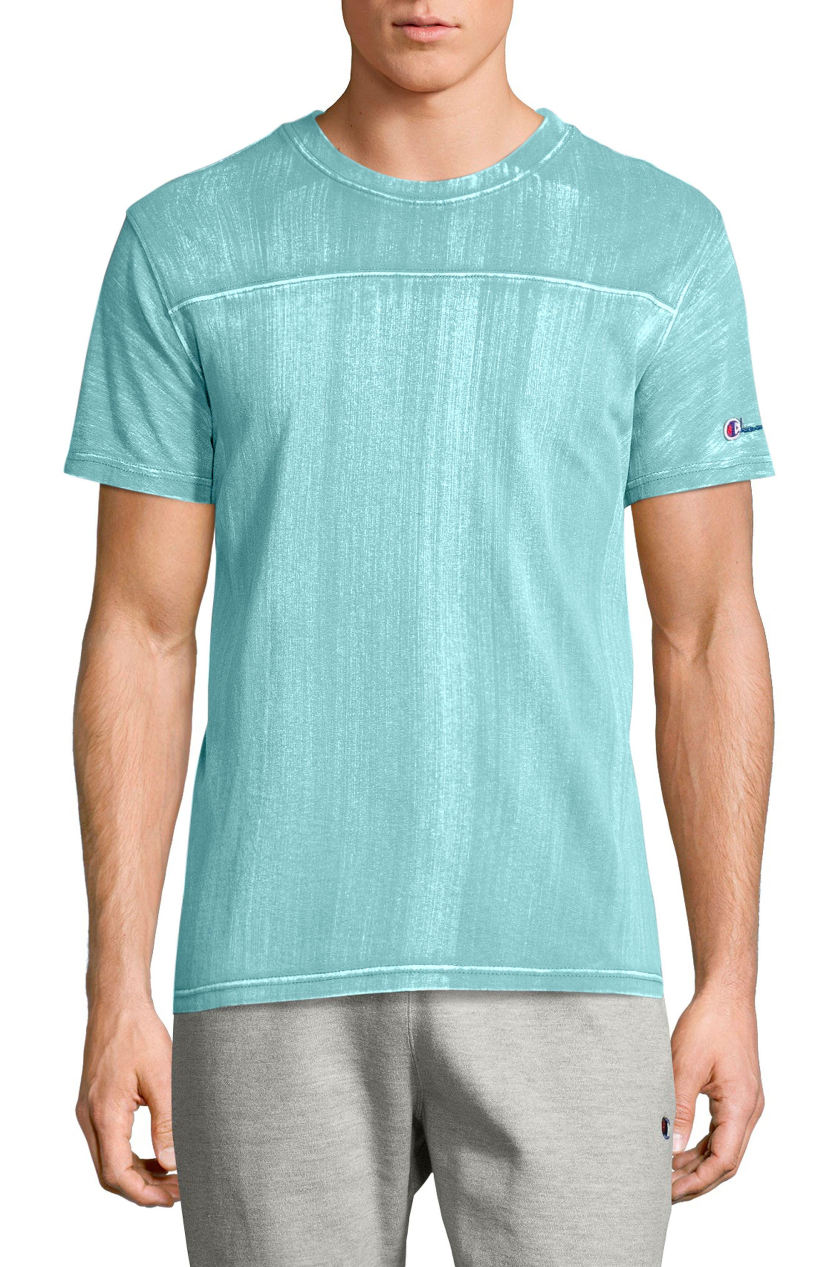 Bleached Wash Crewneck Cotton T-Shirt,                             Main thumbnail 3, color,
