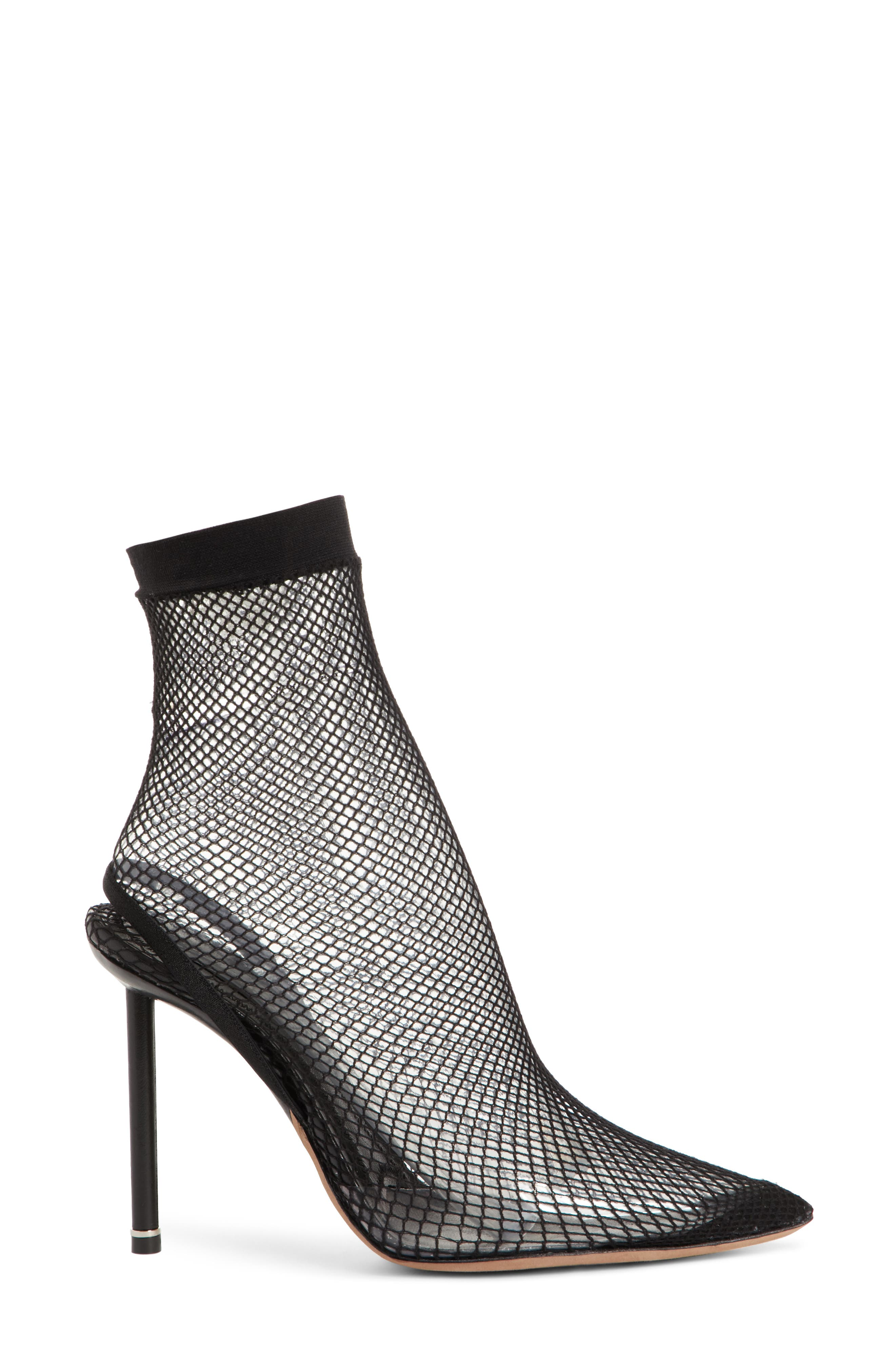 Caden Pointy Toe Sock Pump,                             Alternate thumbnail 3, color,                             001