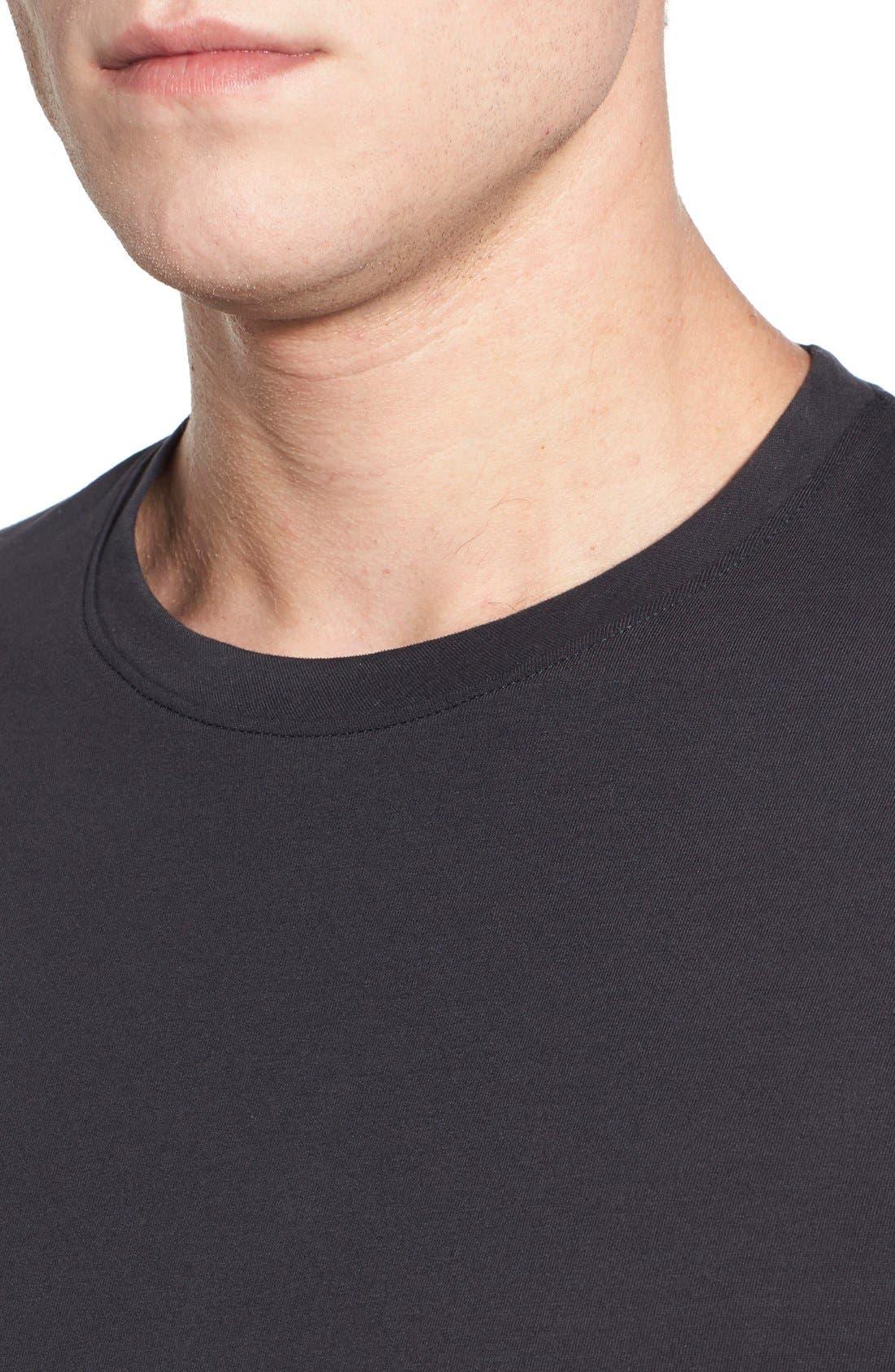 'Cliff' Crewneck T-Shirt,                             Alternate thumbnail 4, color,                             010