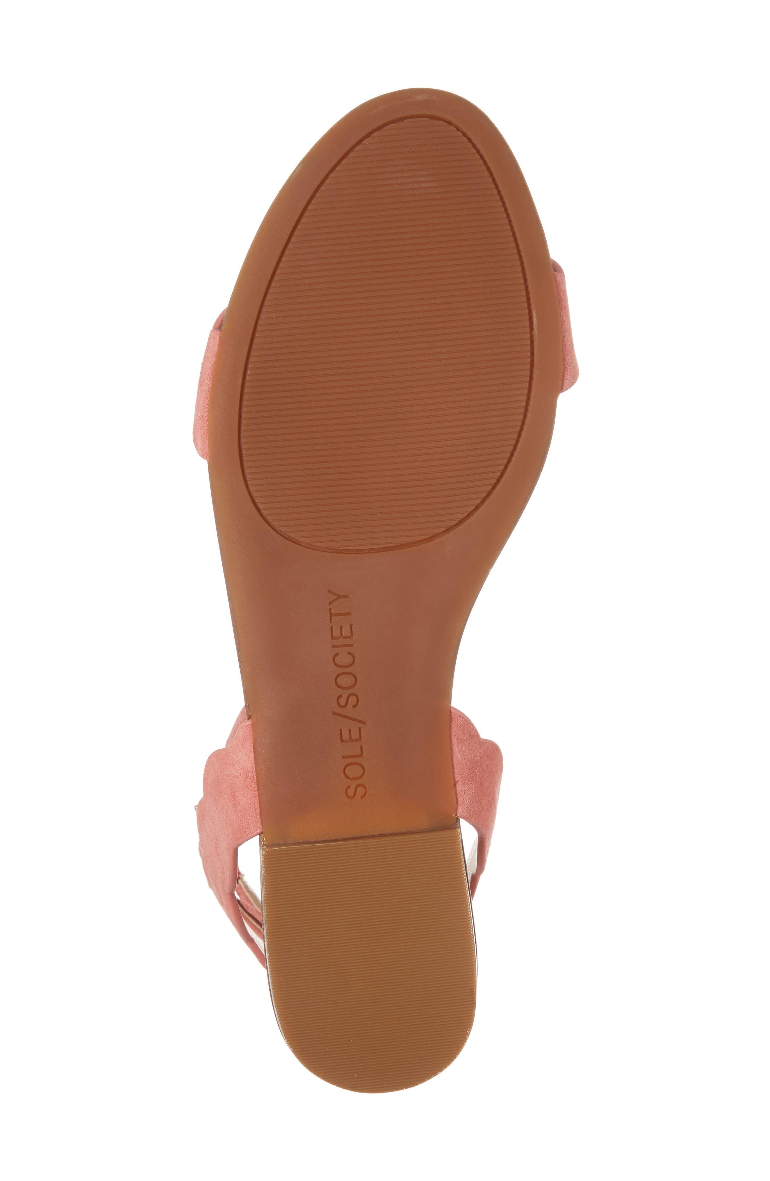 'Odette' Scalloped Ankle Strap Flat Sandal,                             Alternate thumbnail 33, color,